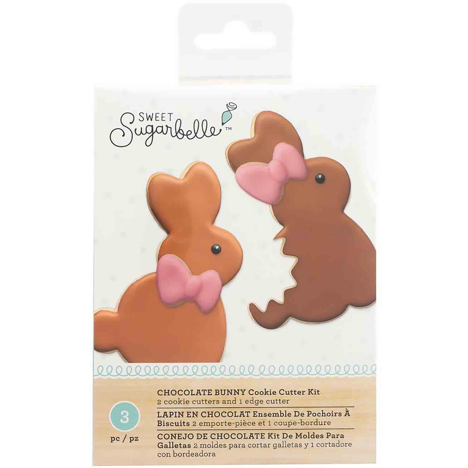Chocolate Bunny Cookie Cutter Set by Sweet Sugarbelle