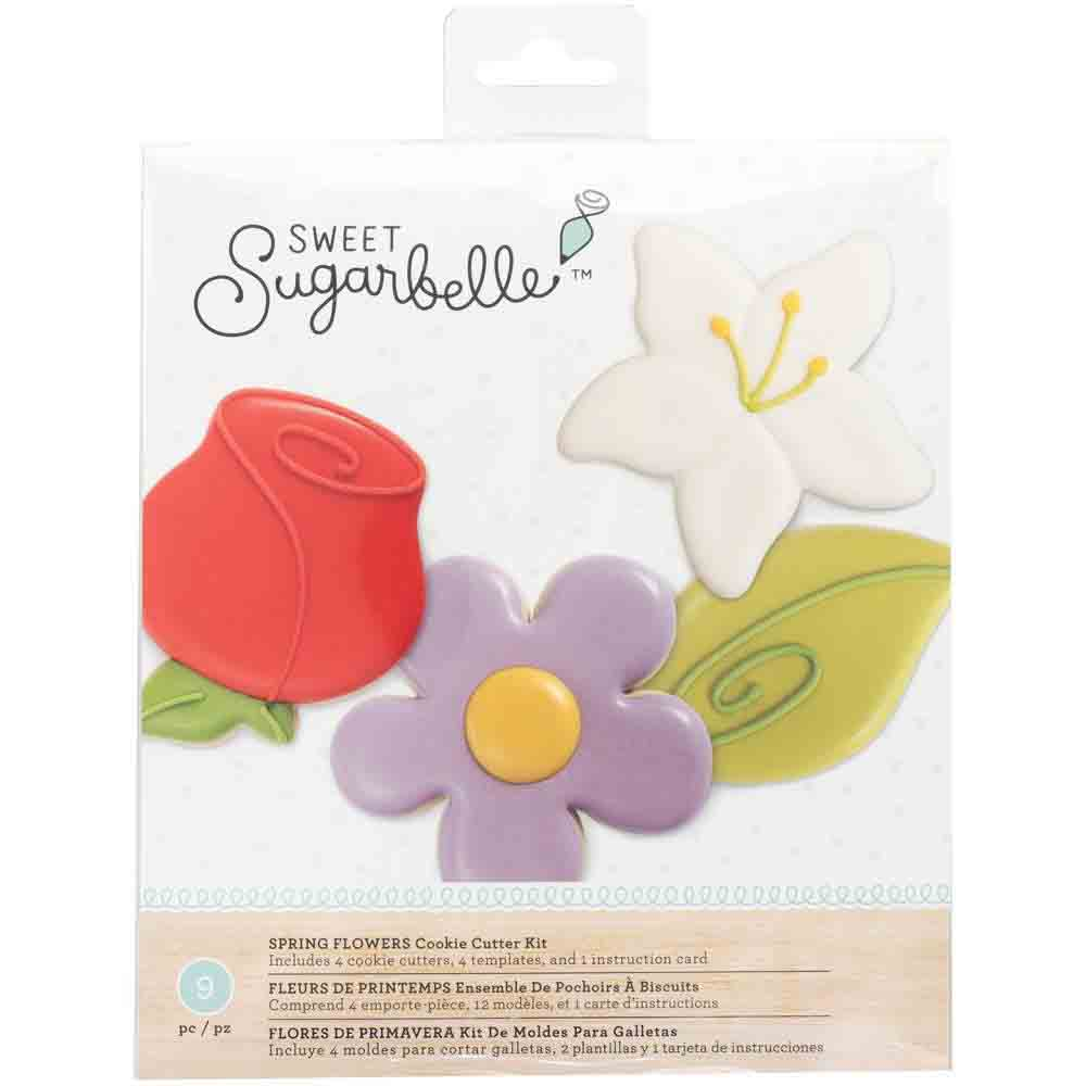 Spring Flowers Cookie Cutter Stencil Set by Sweet Sugarbelle
