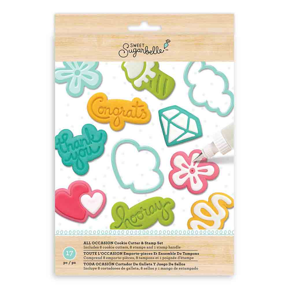 All Occasion Cookie Cutter and Stamp Set by Sweet Sugarbelle