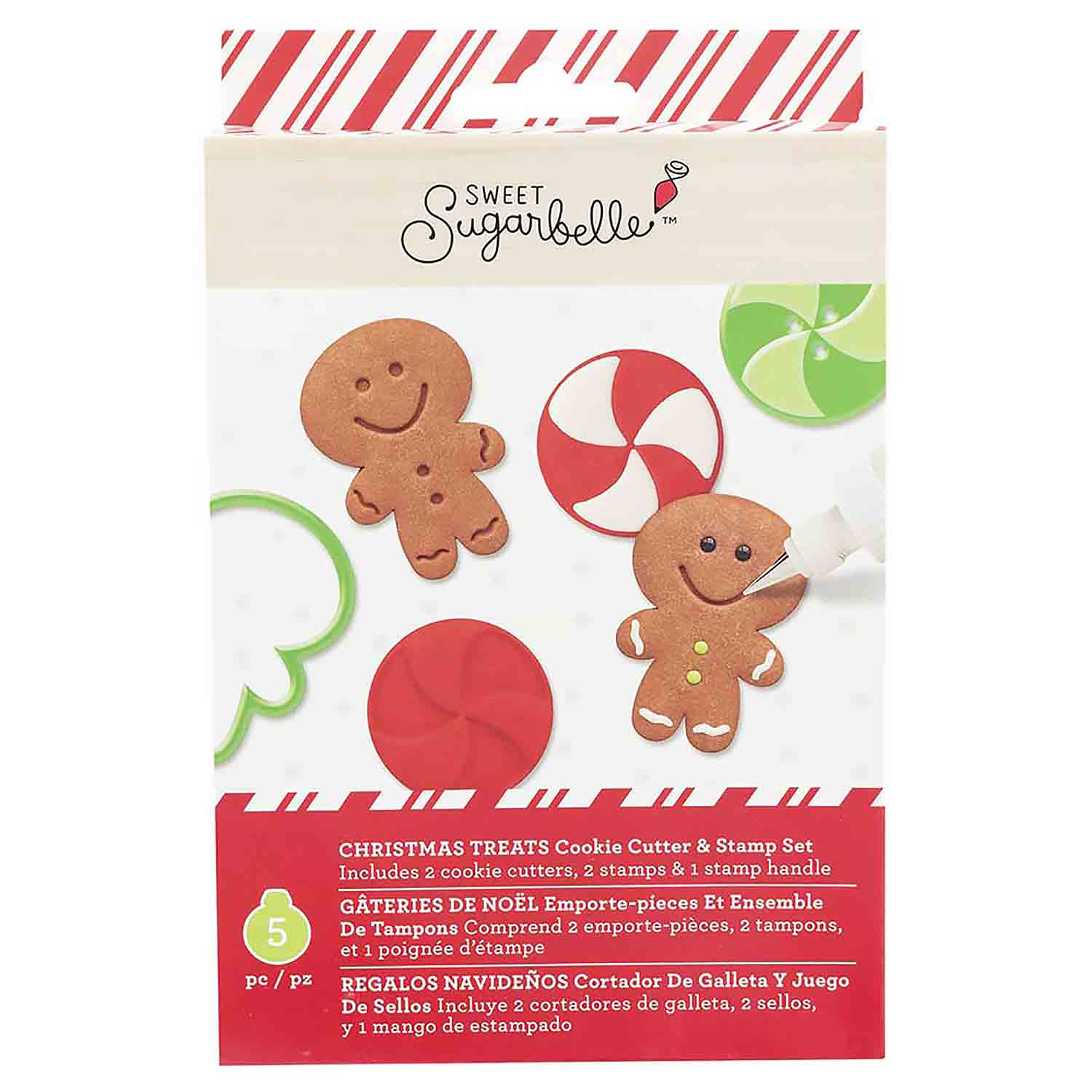 Christmas Treats Cookie Cutter and Stamp Set by Sweet Sugarbelle