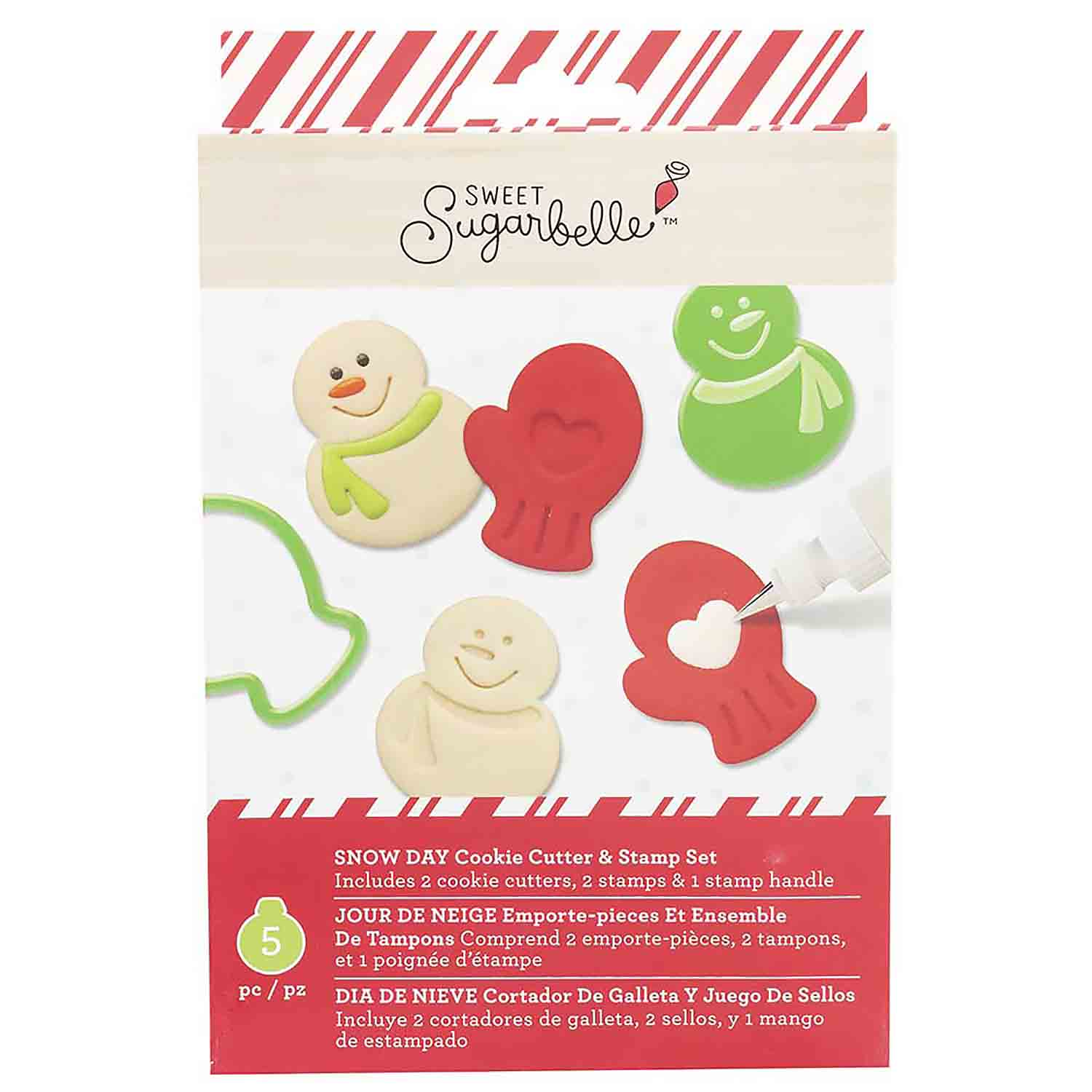 Snow Day Cookie Cutter and Stamp Set by Sweet Sugarbelle