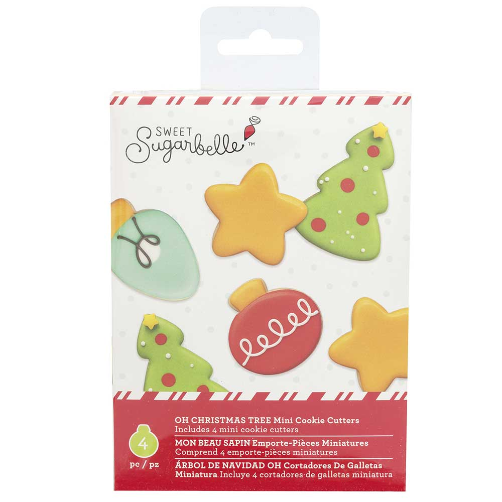 OH Christmas Tree Mini Cookie Cutter Set by Sweet Sugarbelle