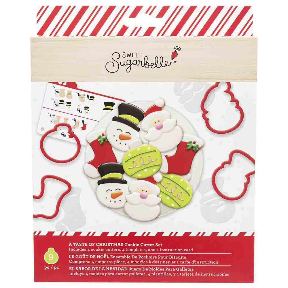 A Taste of Christmas Cookie Cutter Stencil Set by Sweet Sugarbelle