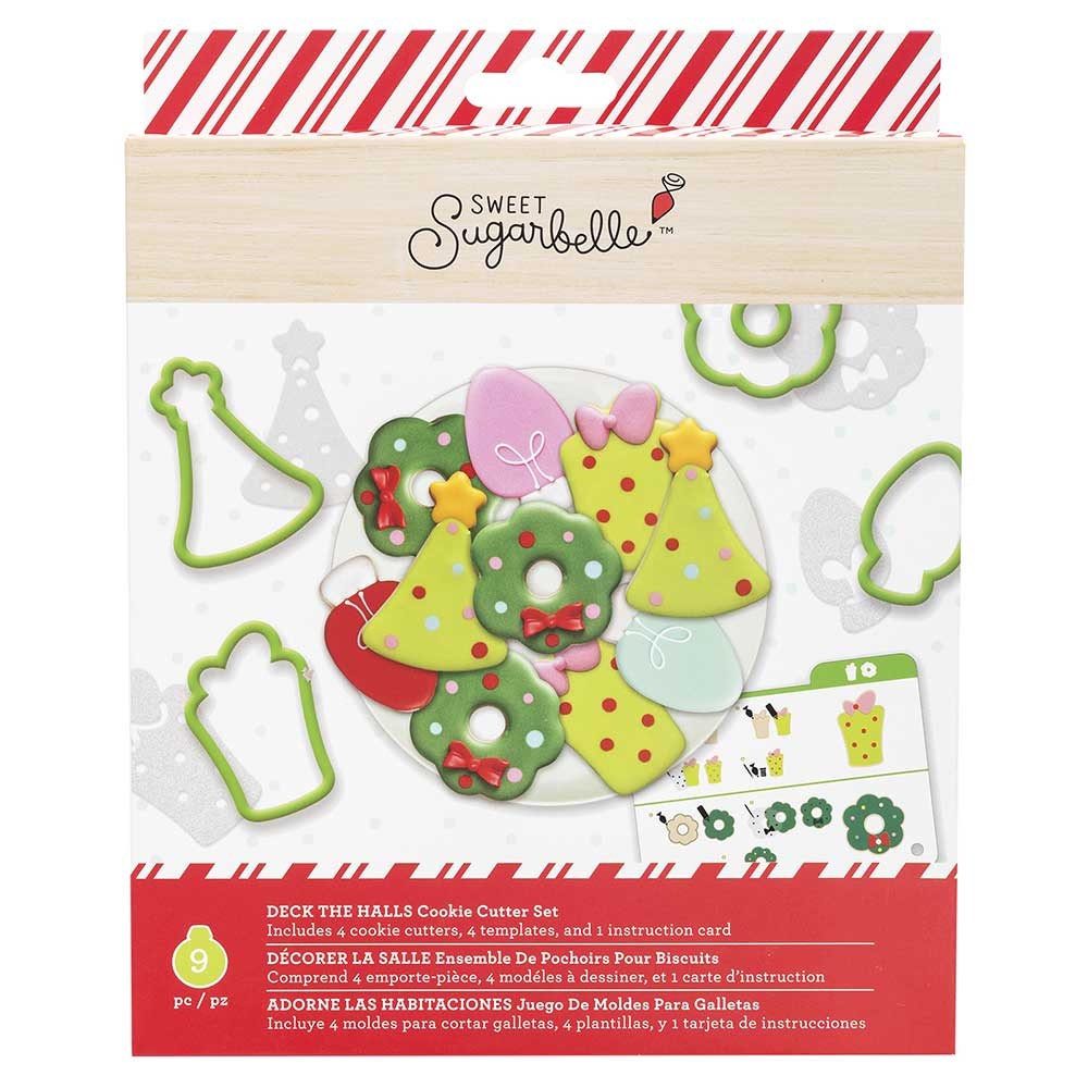 Deck the Halls Cookie Cutter Stencil Set by Sweet Sugarbelle