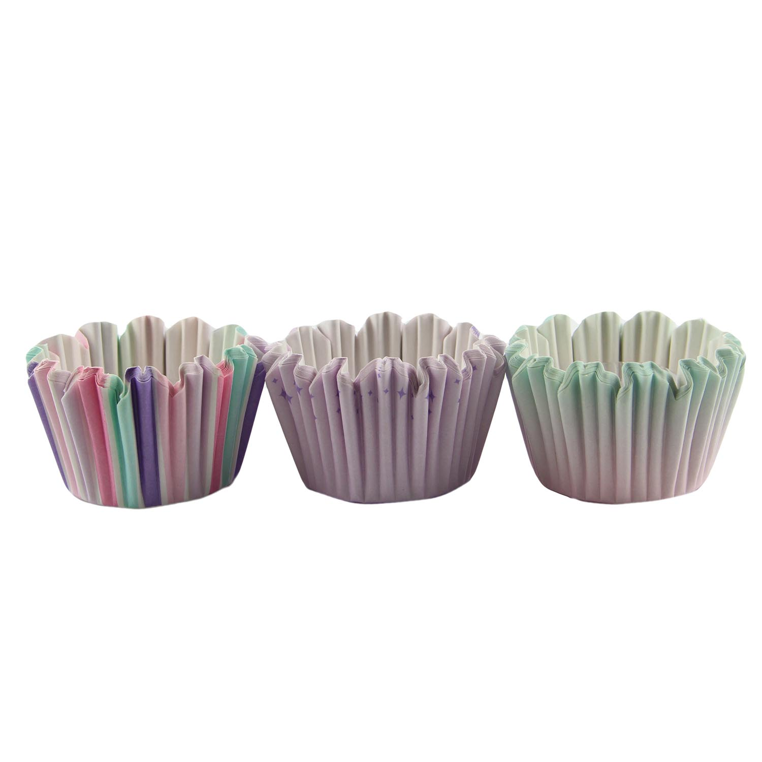 Purple Stripe Standard Baking Cups