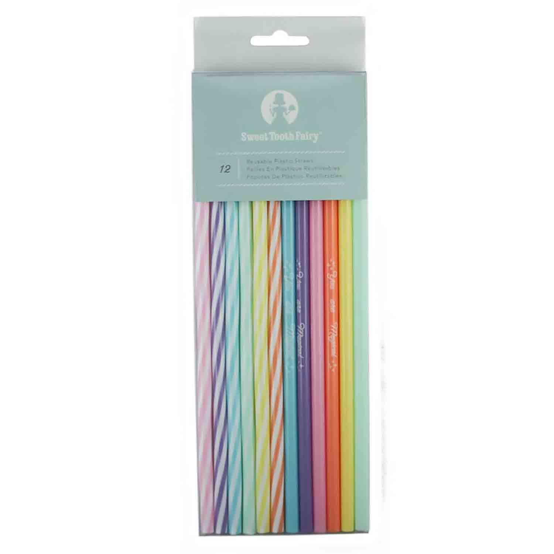 Rainbow Plastic Straws