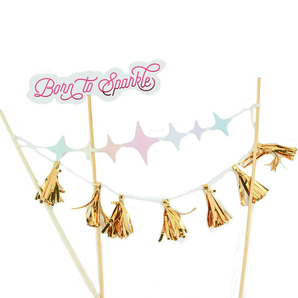 Born to Sparkle Cake Topper Kit