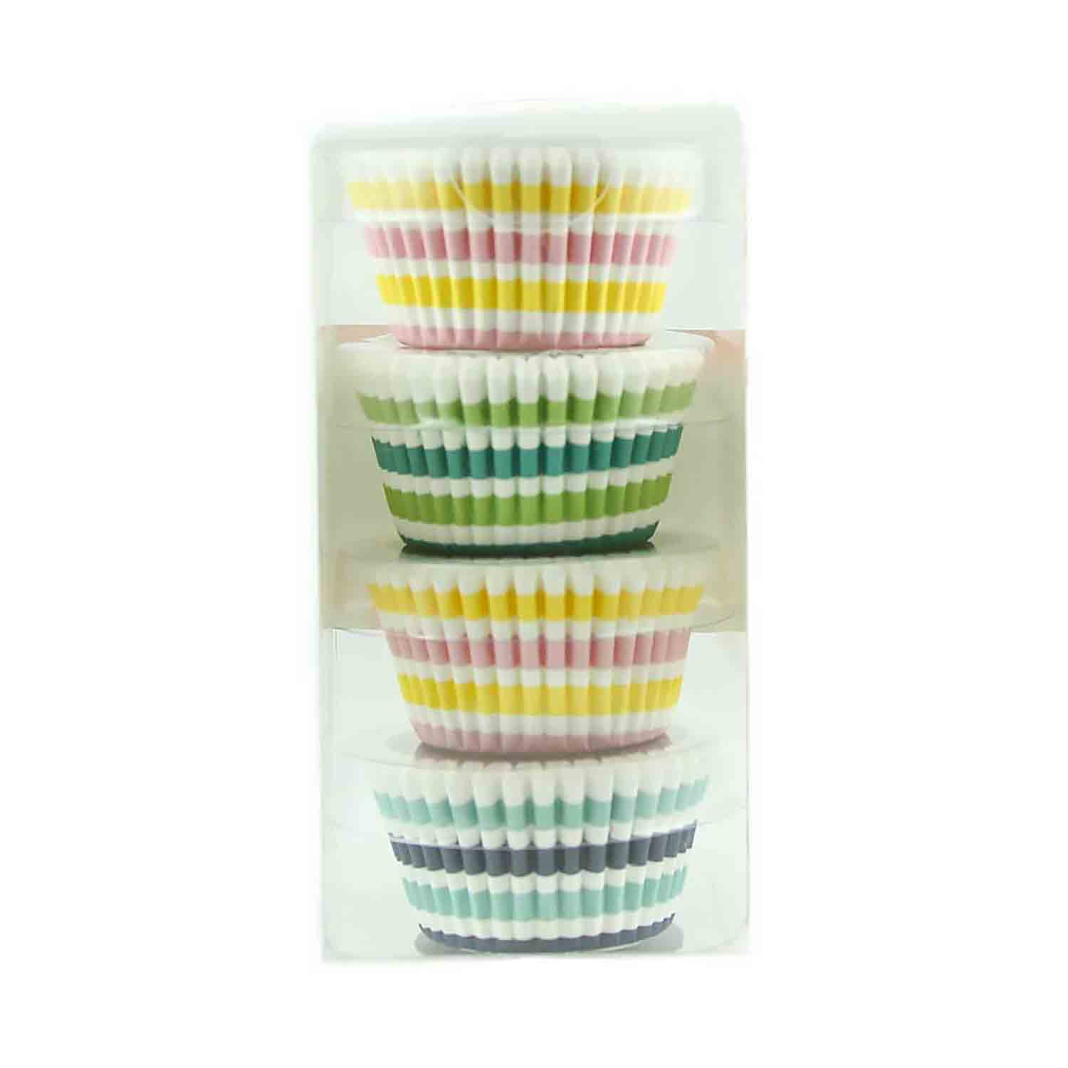 Stripes Mini Baking Cups