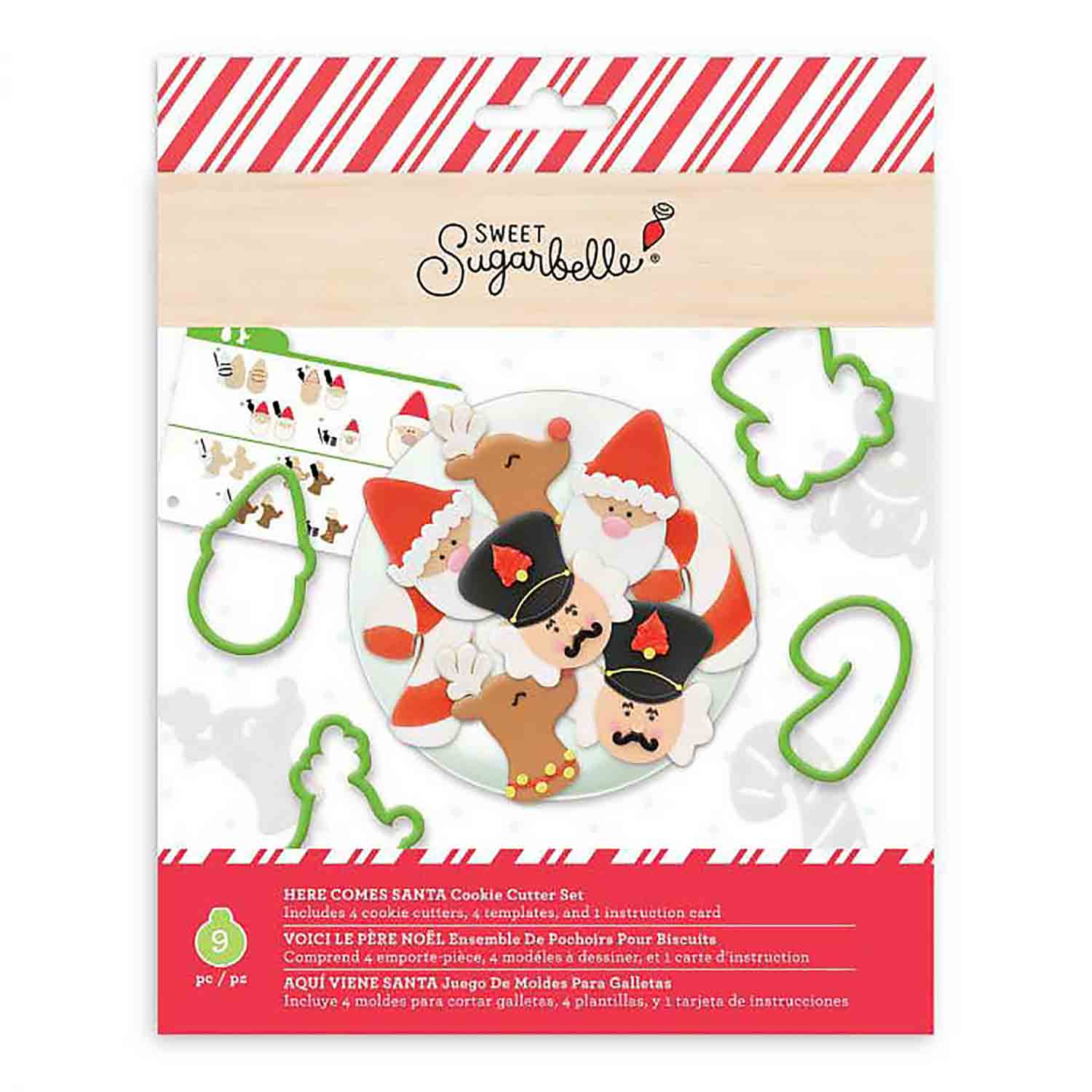 Here Comes Santa Cookie Cutter Stencil Set