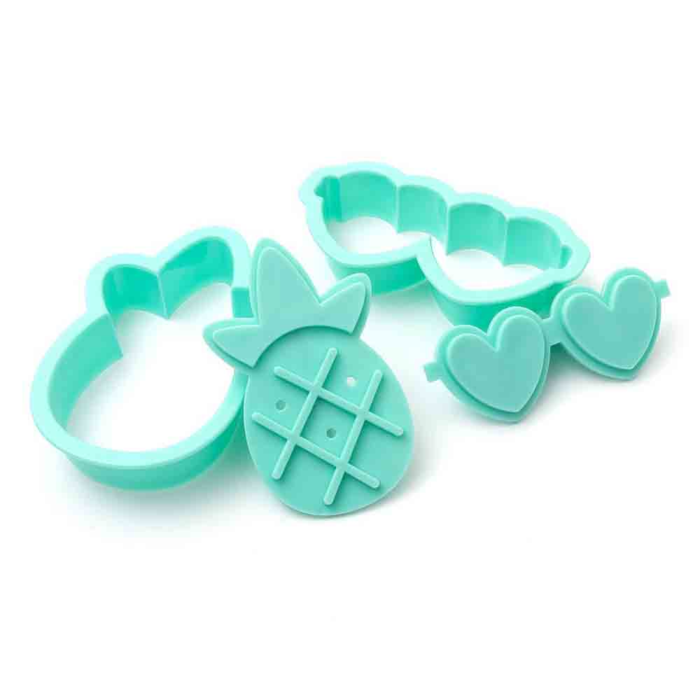 Tropical Cookie Cutter and Stamp Set
