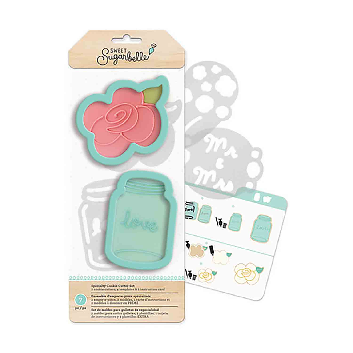 Country Rose Cookie Cutter Stencil Set by Sweet Sugarbelle