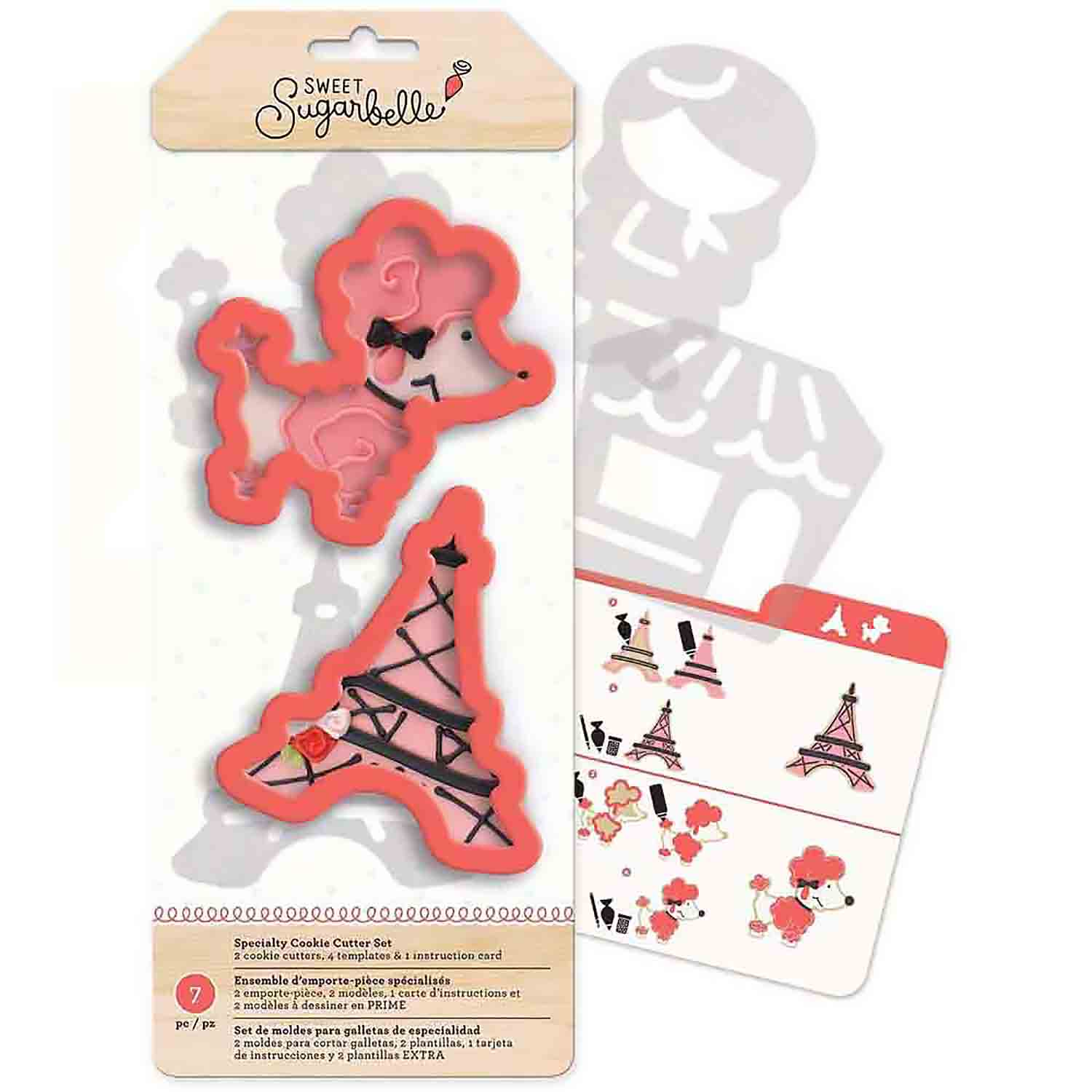 Ooh La La Cookie Cutter Stencil Set by Sweet Sugarbelle