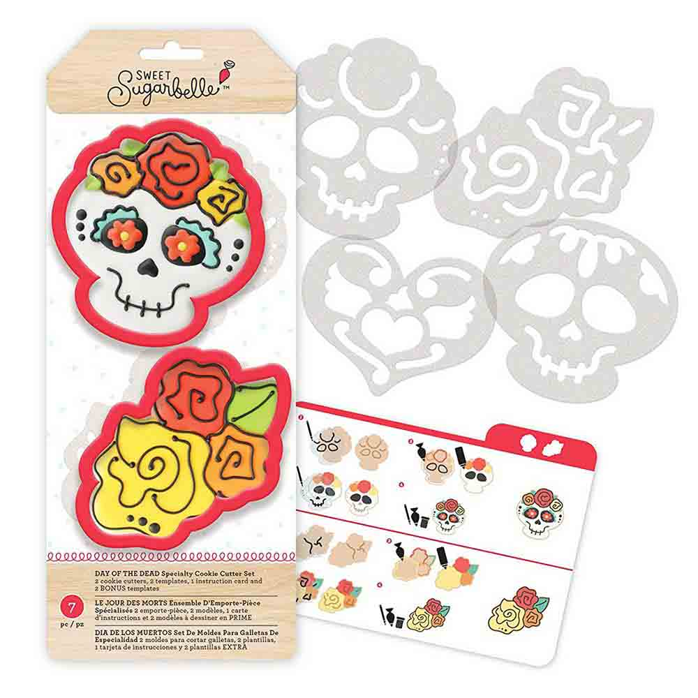 Day of the Dead Cookie Cutter Stencil Set