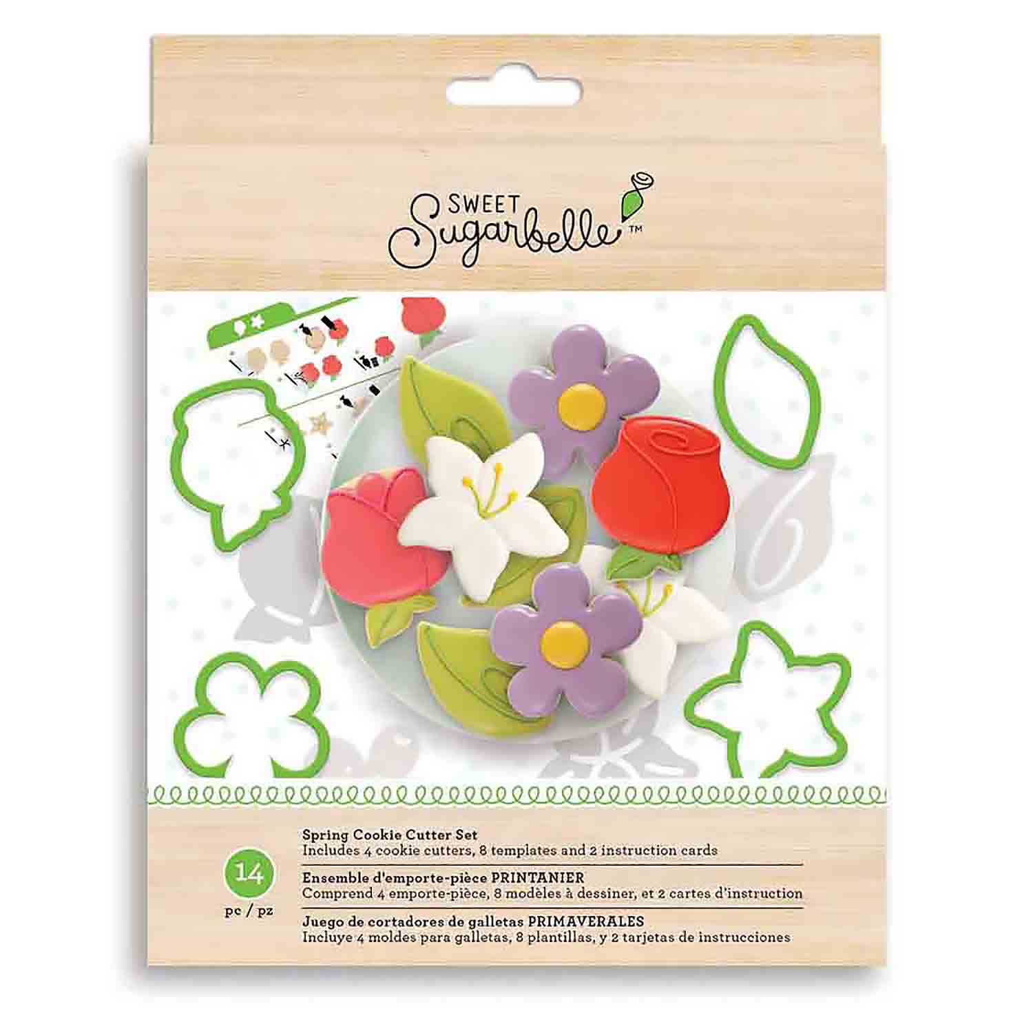 Spring Shape Shifters Cookie Cutter Stencil Set by Sweet Sugarbelle