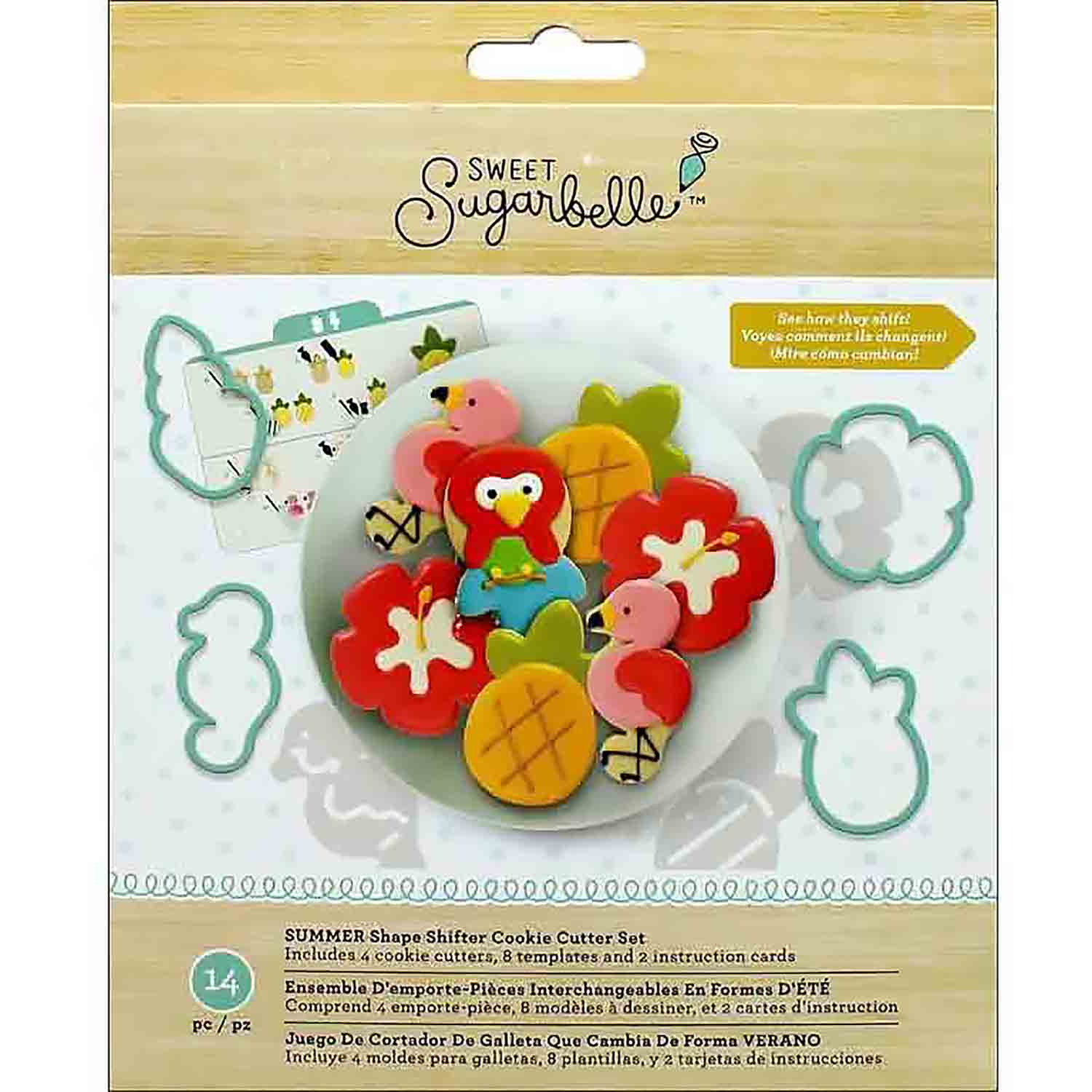Summer Shape Shifters Cookie Cutter Stencil Set by Sweet Sugarbelle