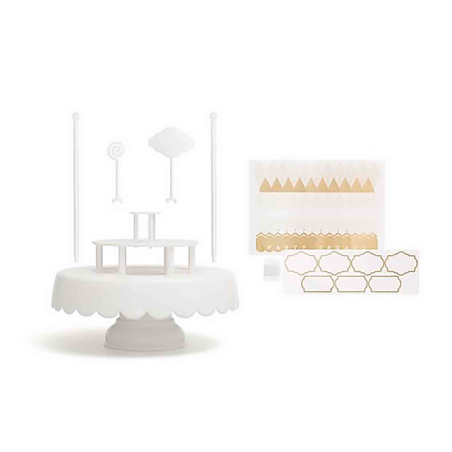 Magic Sweet Cake Stand Set - White