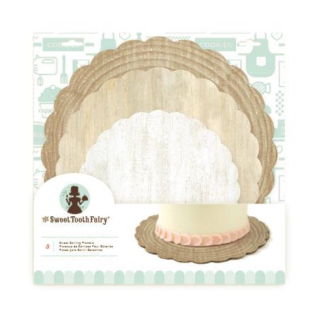 Woodgrain Cake Cardboard Serving Platters