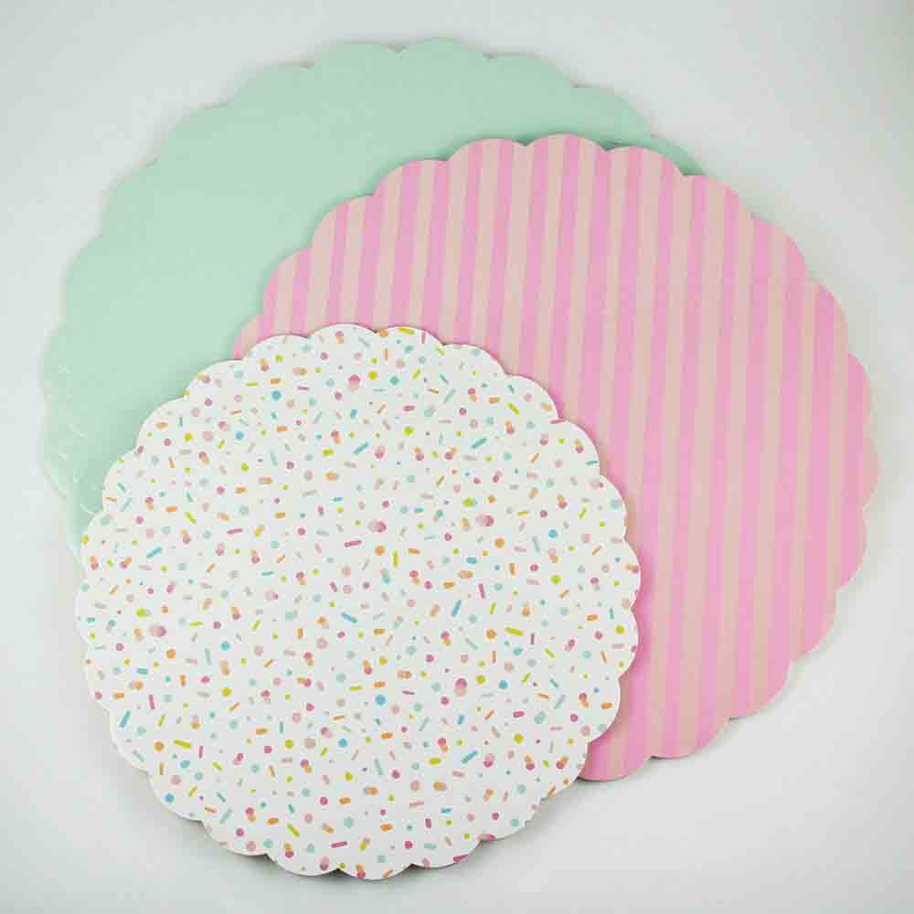 Color Cake Cardboard Serving Platters