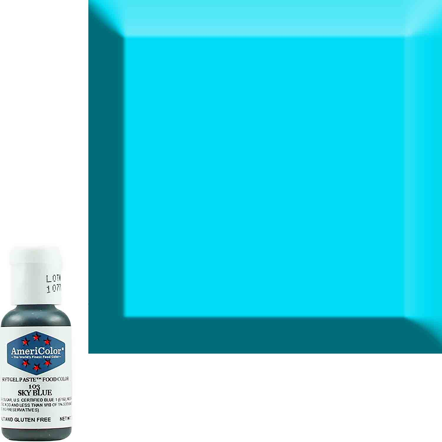 Sky Blue Americolor® Soft Gel Paste Food Color (Old # 41-8003)