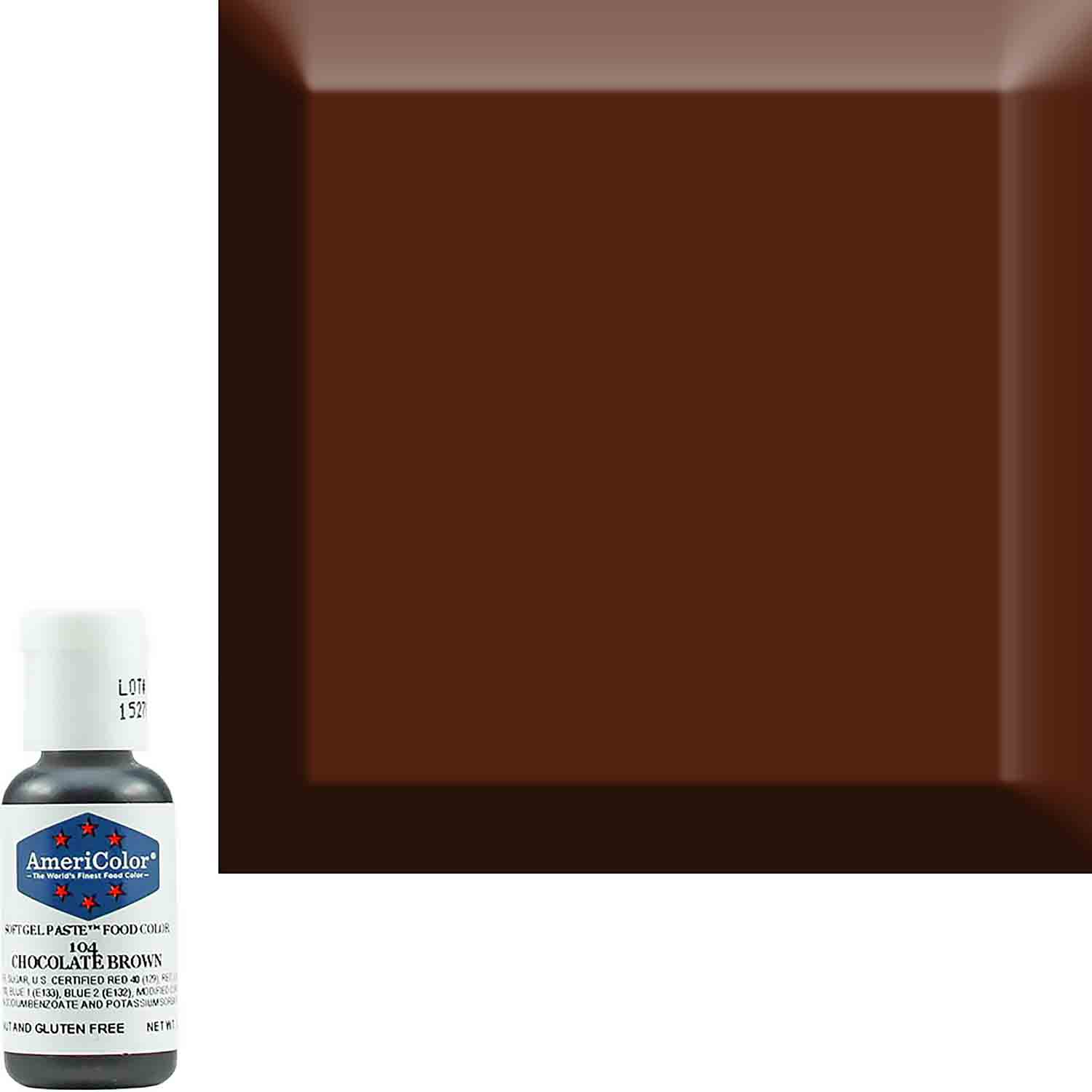 Chocolate Brown AmeriColor® Soft Gel Paste™ Food Color