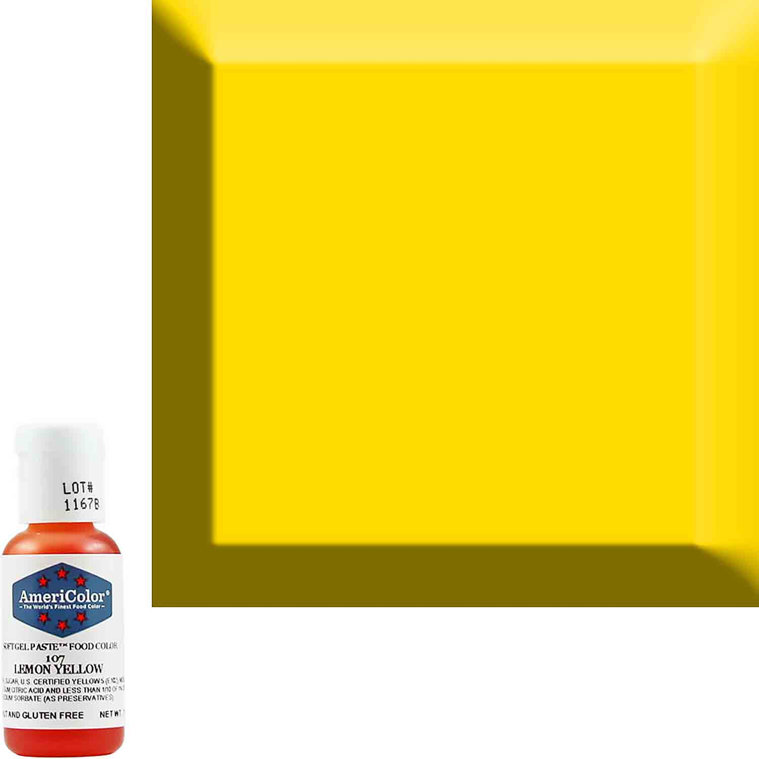 Lemon Yellow Americolor® Soft Gel Paste Food Color (Old # 41-8007)