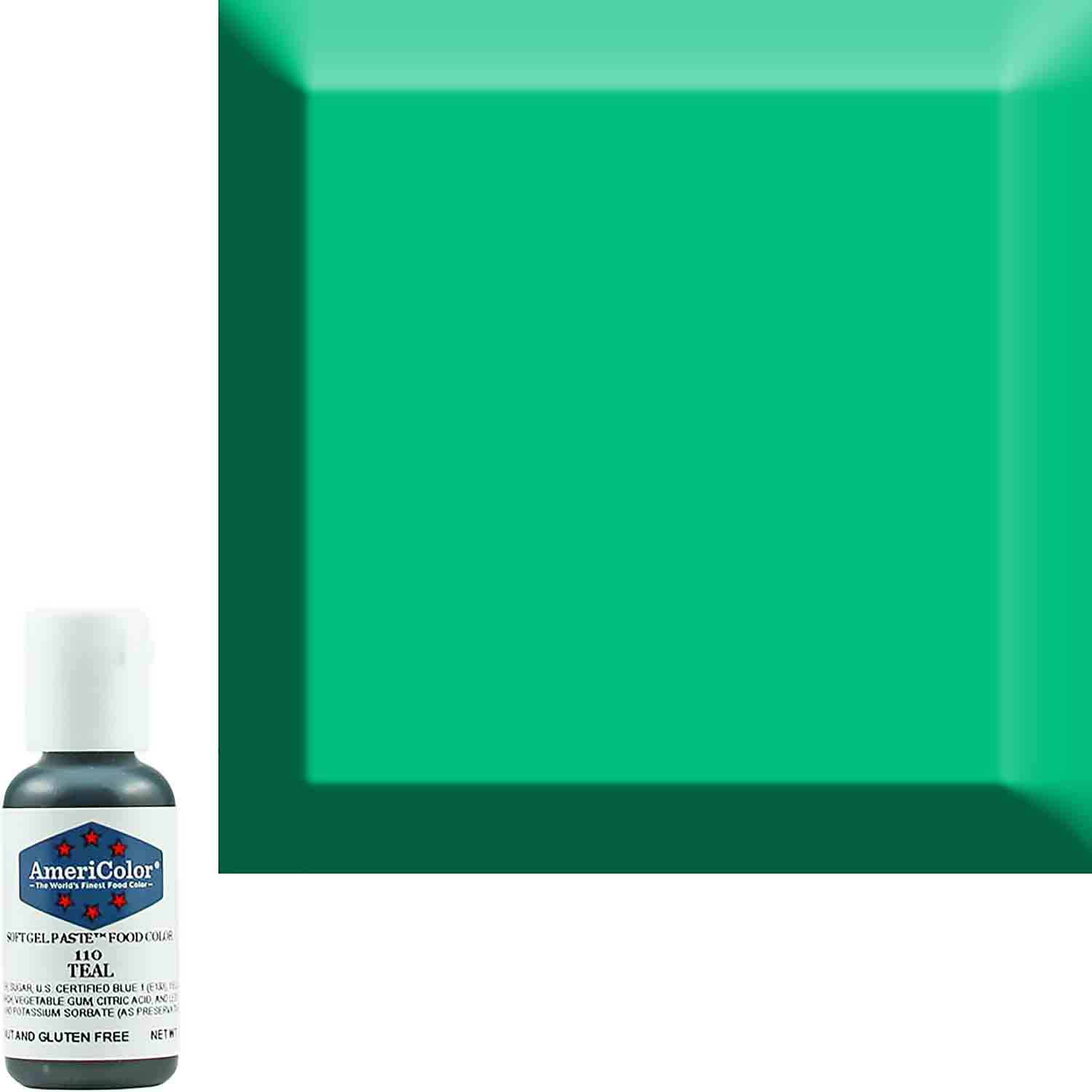 Teal Americolor® Soft Gel Paste Food Color (Old # 41-8010)