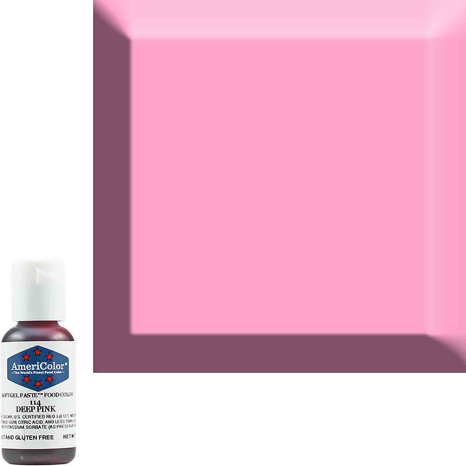 Deep Pink Americolor® Soft Gel Paste Food Color (Old # 41-8014)