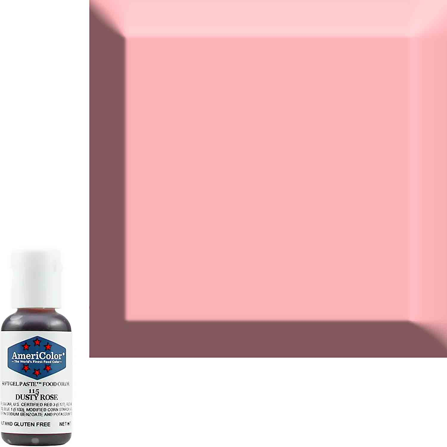 Dusty Rose Americolor® Soft Gel Paste Food Color (Old # 41-8015)