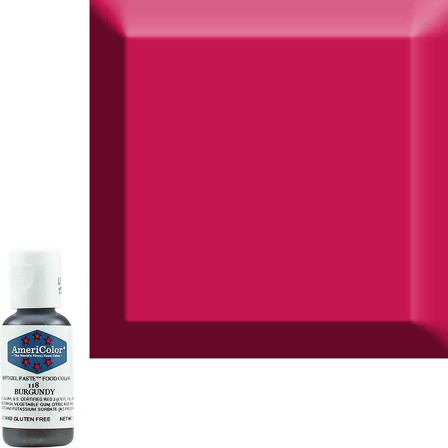 Burgundy Americolor® Soft Gel Paste Food Color (Old # 41-8018)