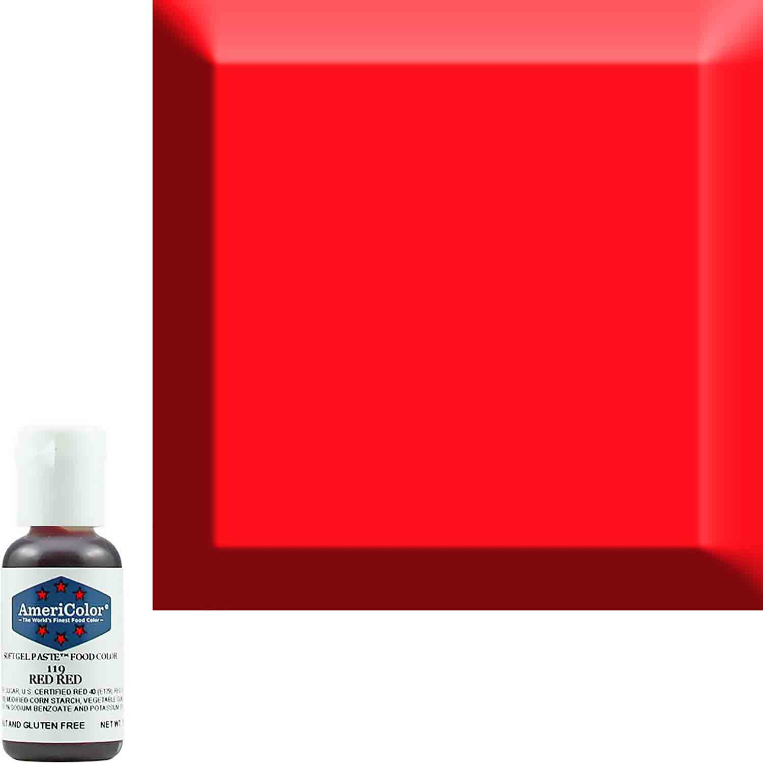 Red Red Americolor® Soft Gel Paste Food Color (Old # 41-8019)