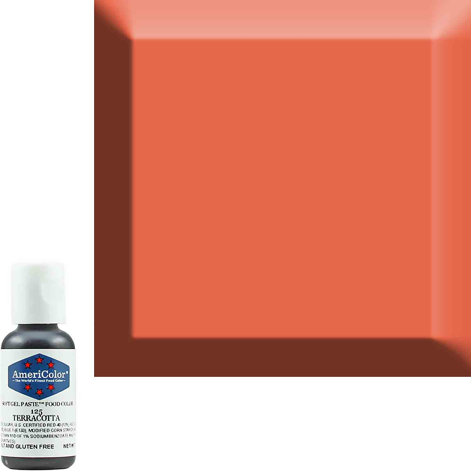 Terracotta AmeriColor® Soft Gel Paste™ Food Color