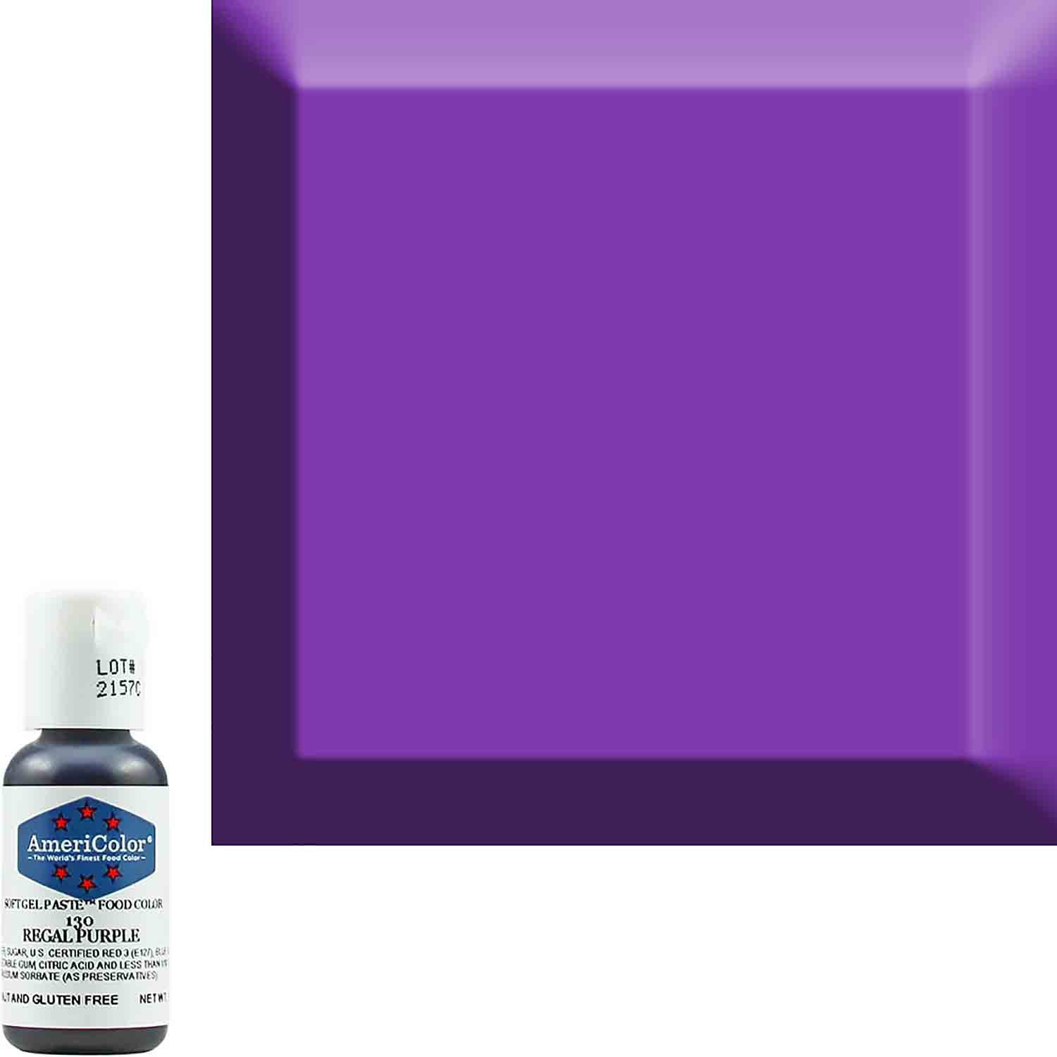 Regal Purple Americolor® Soft Gel Paste Food Color (Old # 41-8030)