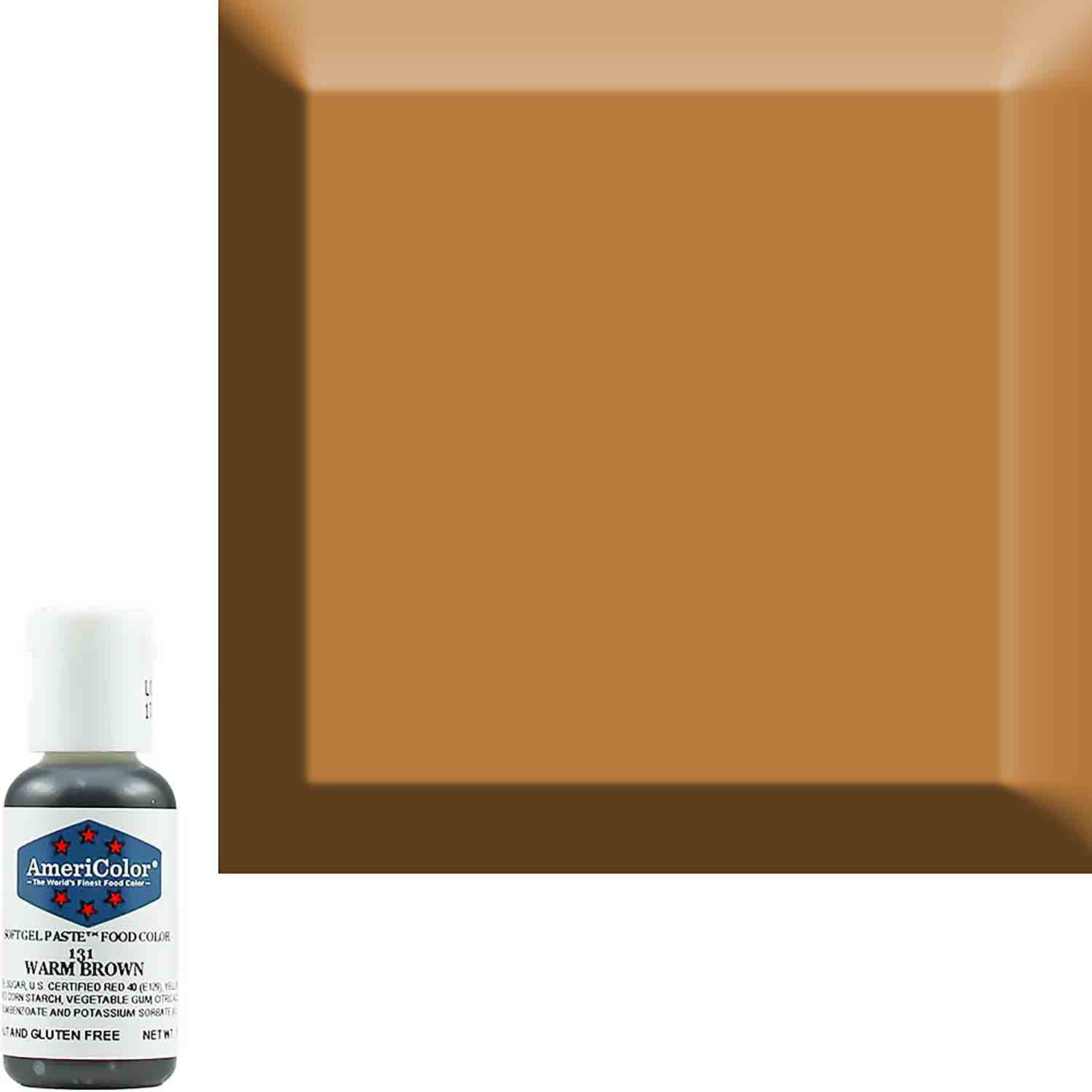 Warm Brown AmeriColor® Soft Gel Paste™ Food Color