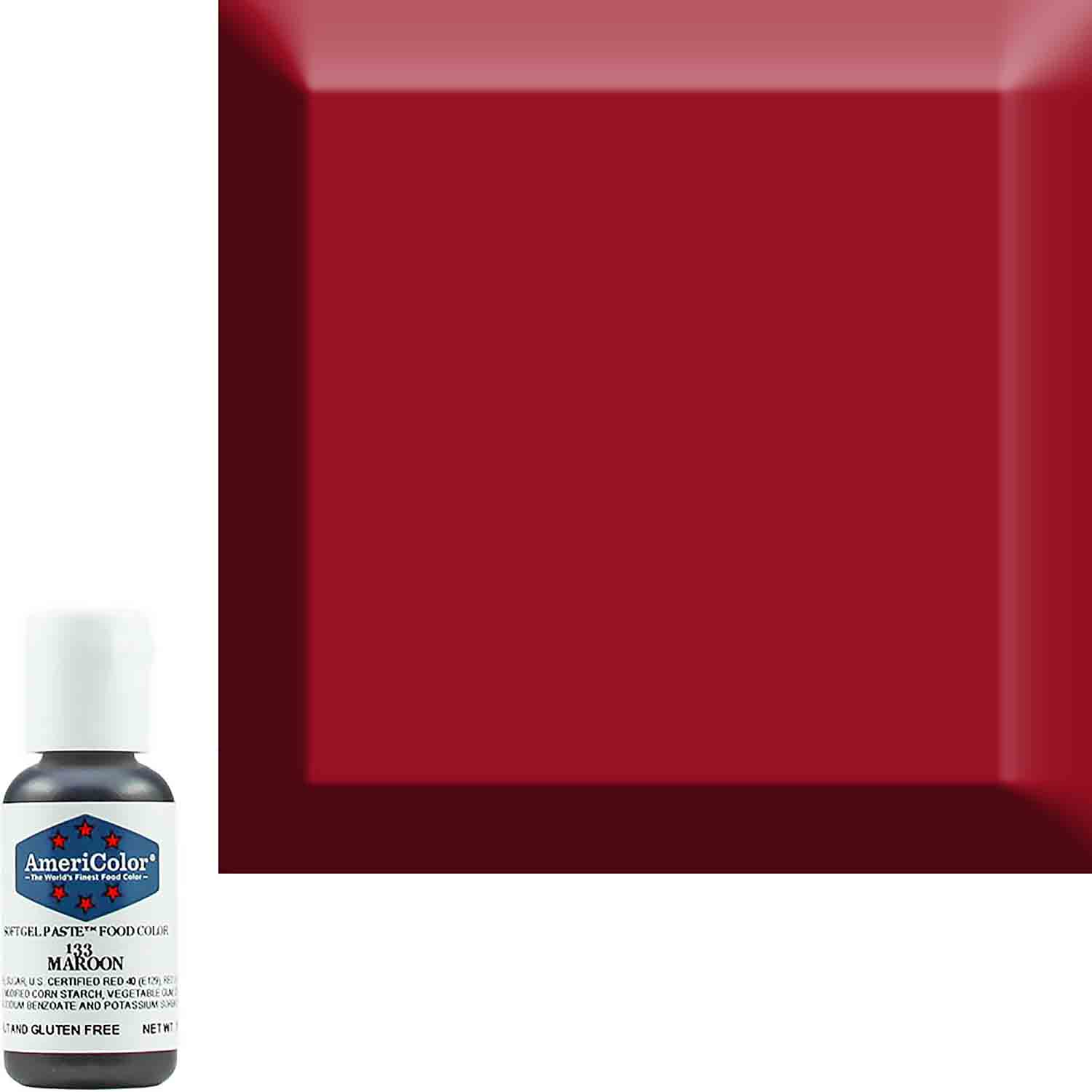 Maroon Americolor® Soft Gel Paste Food Color (Old # 41-8033)