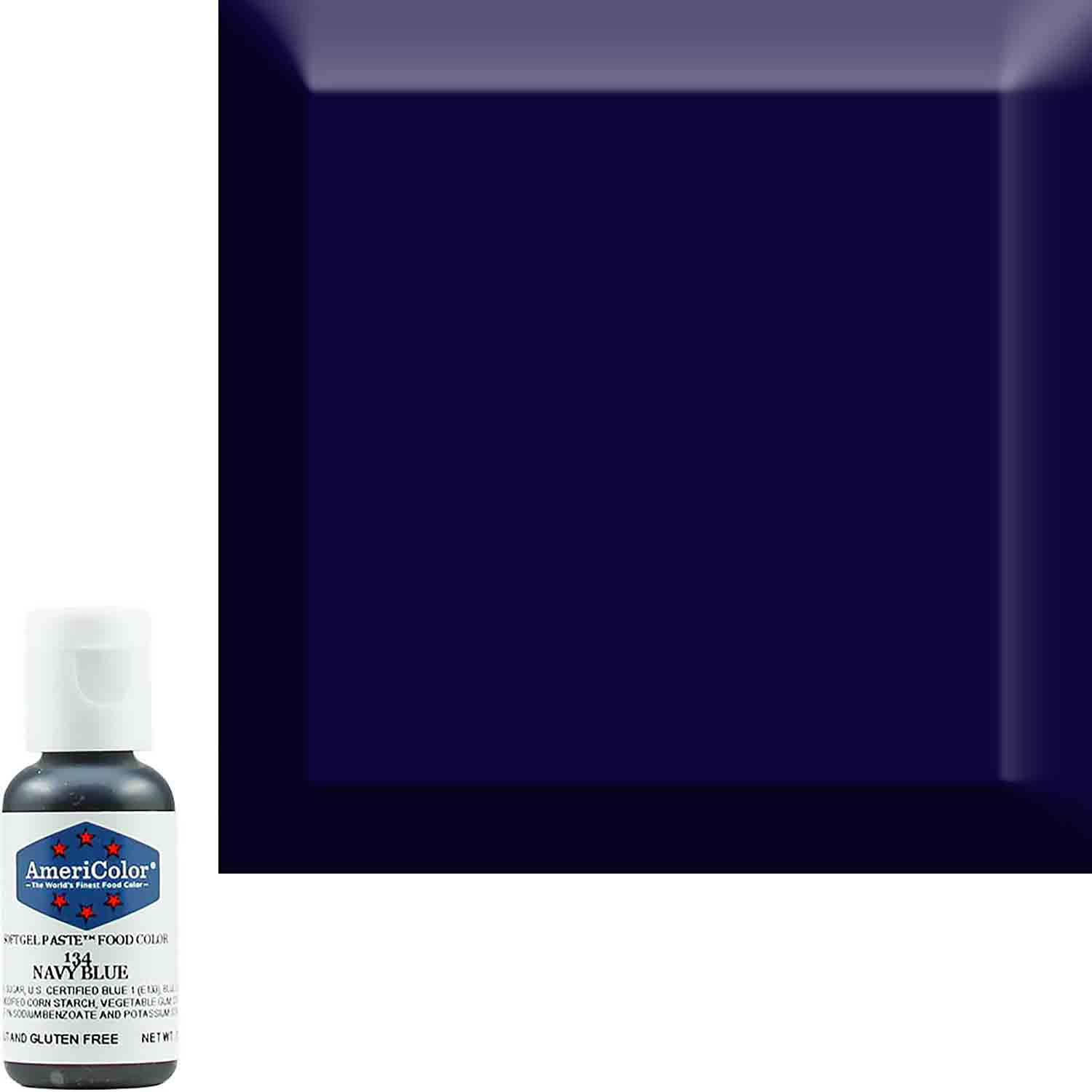 Navy Blue Americolor® Soft Gel Paste Food Color (Old # 41-8034)