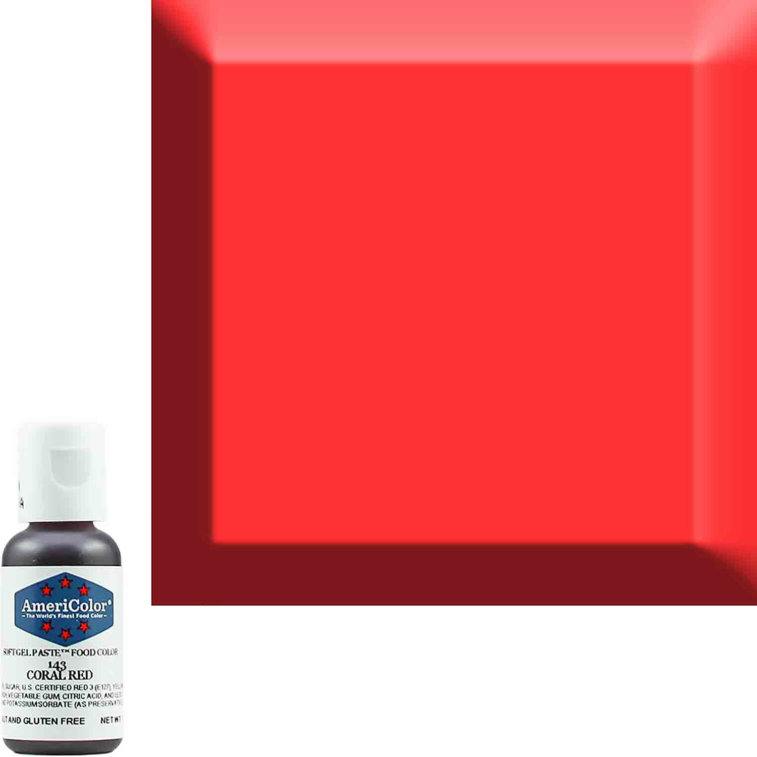 Coral Red Soft Gel Paste™ Food Color