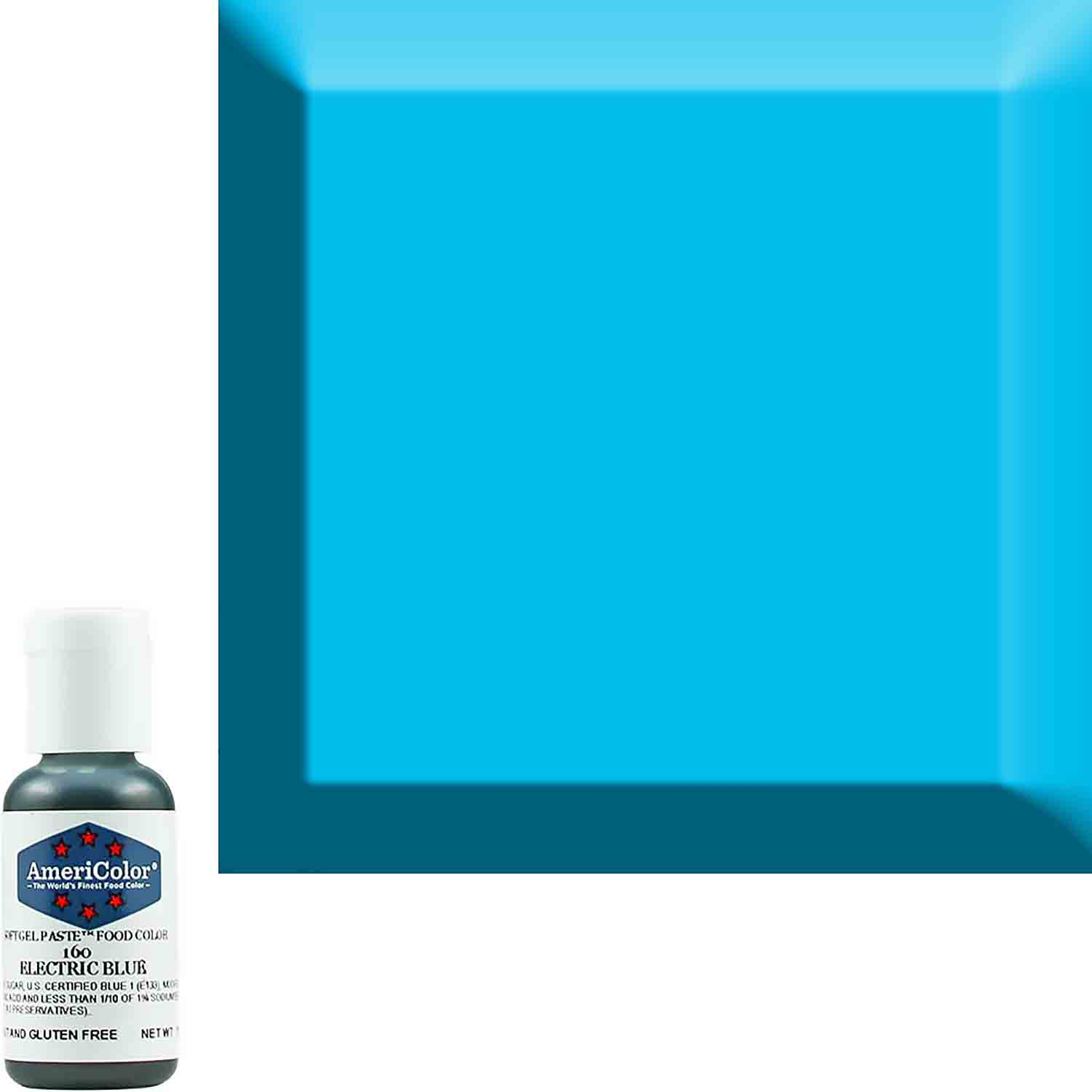 Neon/Electric Blue AmeriColor® Soft Gel Paste™ Food Color