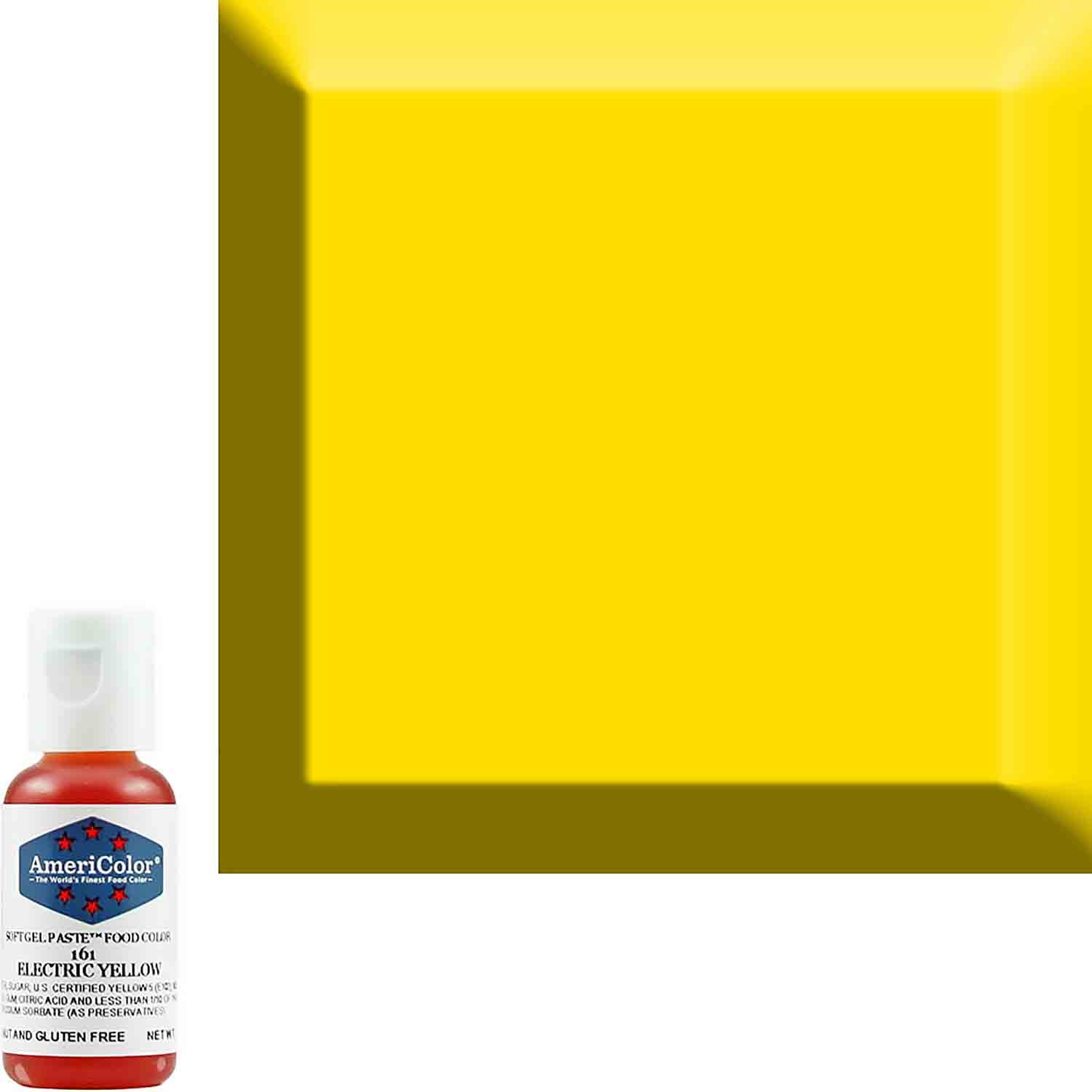 Neon/Electric Yellow AmeriColor® Soft Gel Paste™ Food Color