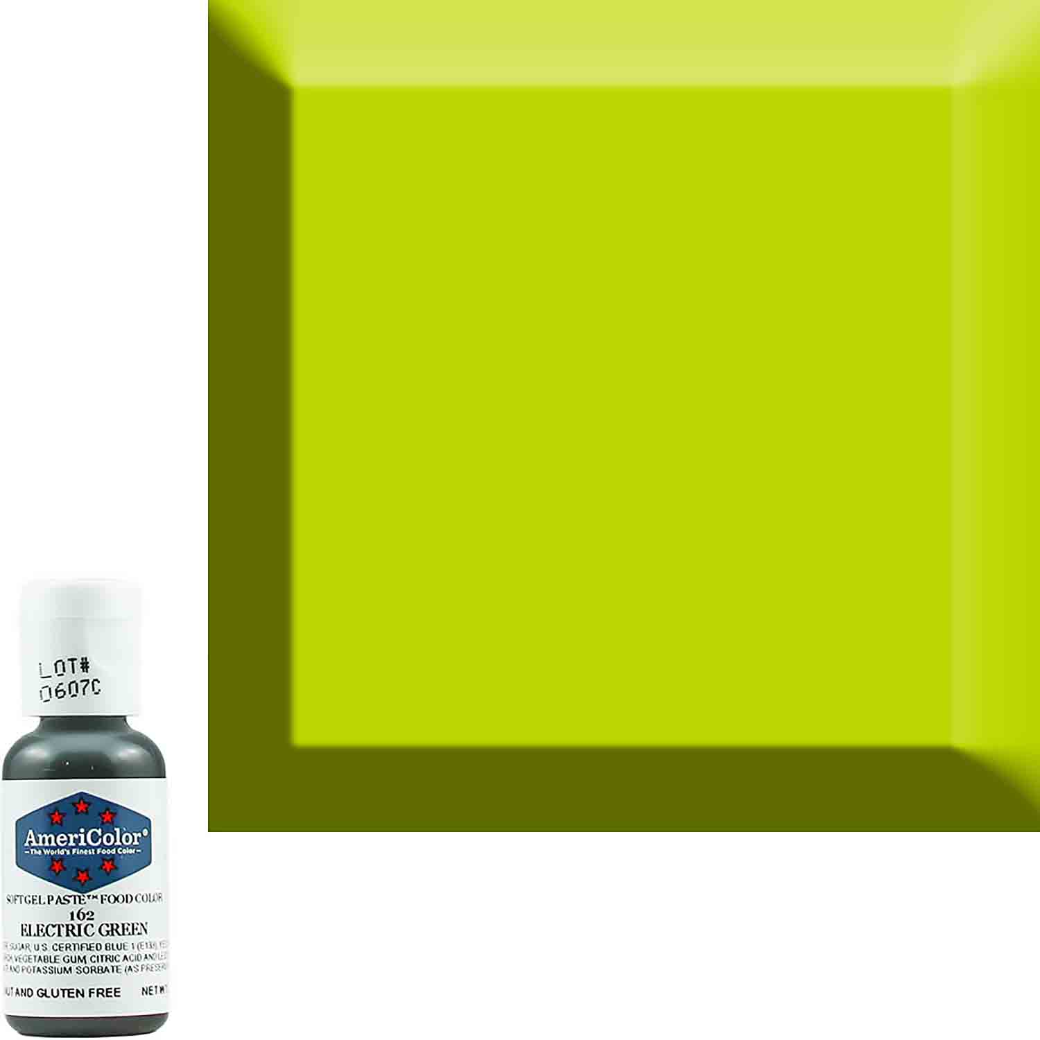 Neon/Electric Green Americolor® Soft Gel Paste Food Color (Old # 41-7962)