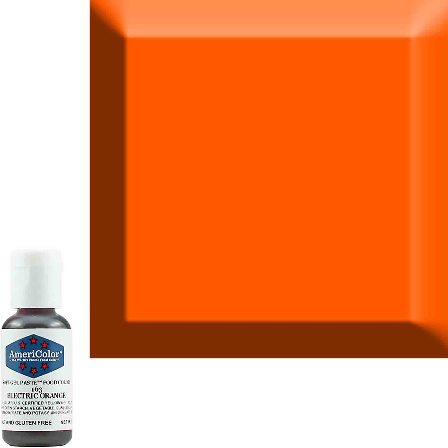 Neon/Electric Orange Americolor® Soft Gel Paste Food Color (Old # 41-7963)