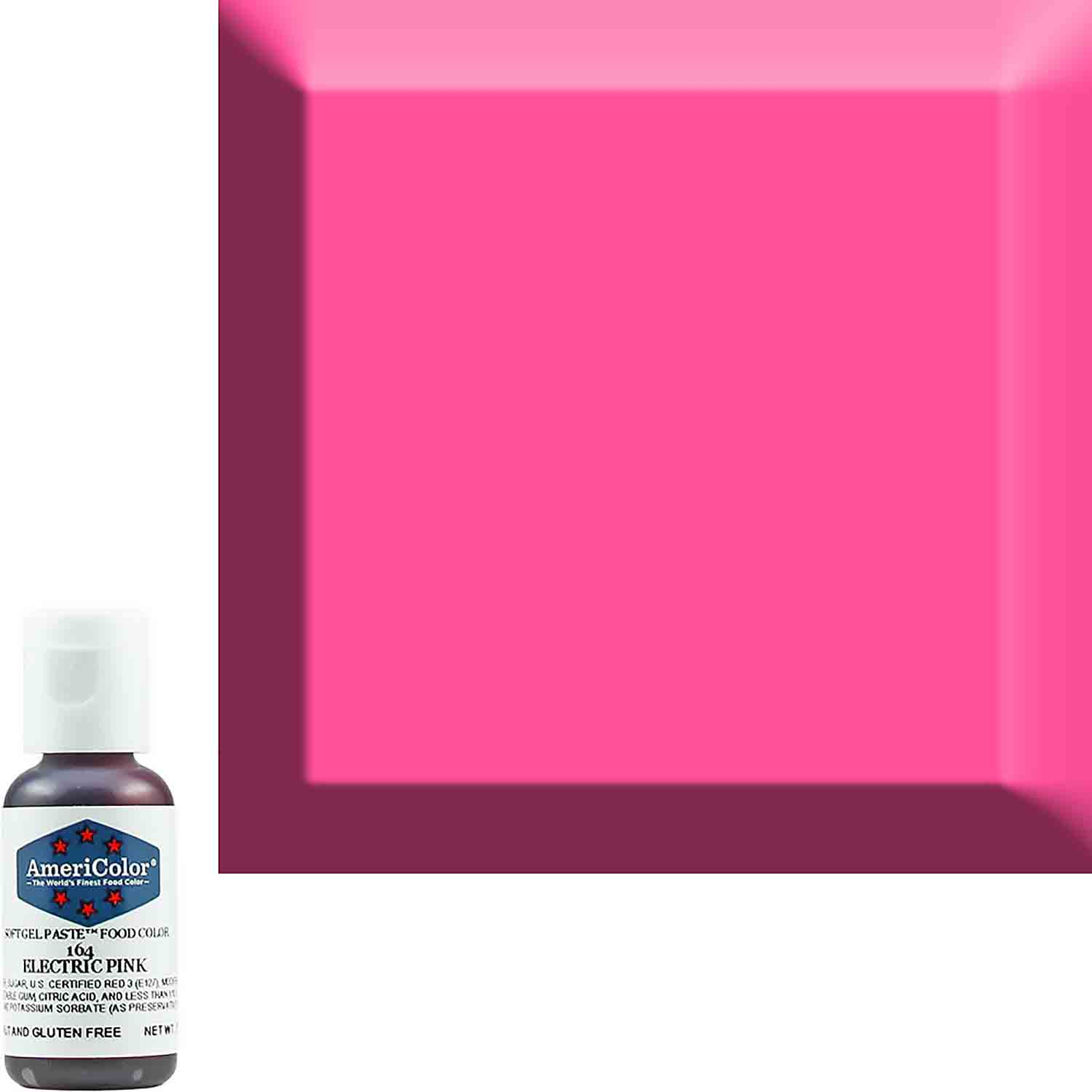 Neon/Electric Pink Americolor® Soft Gel Paste Food Color (Old # 41-7964)