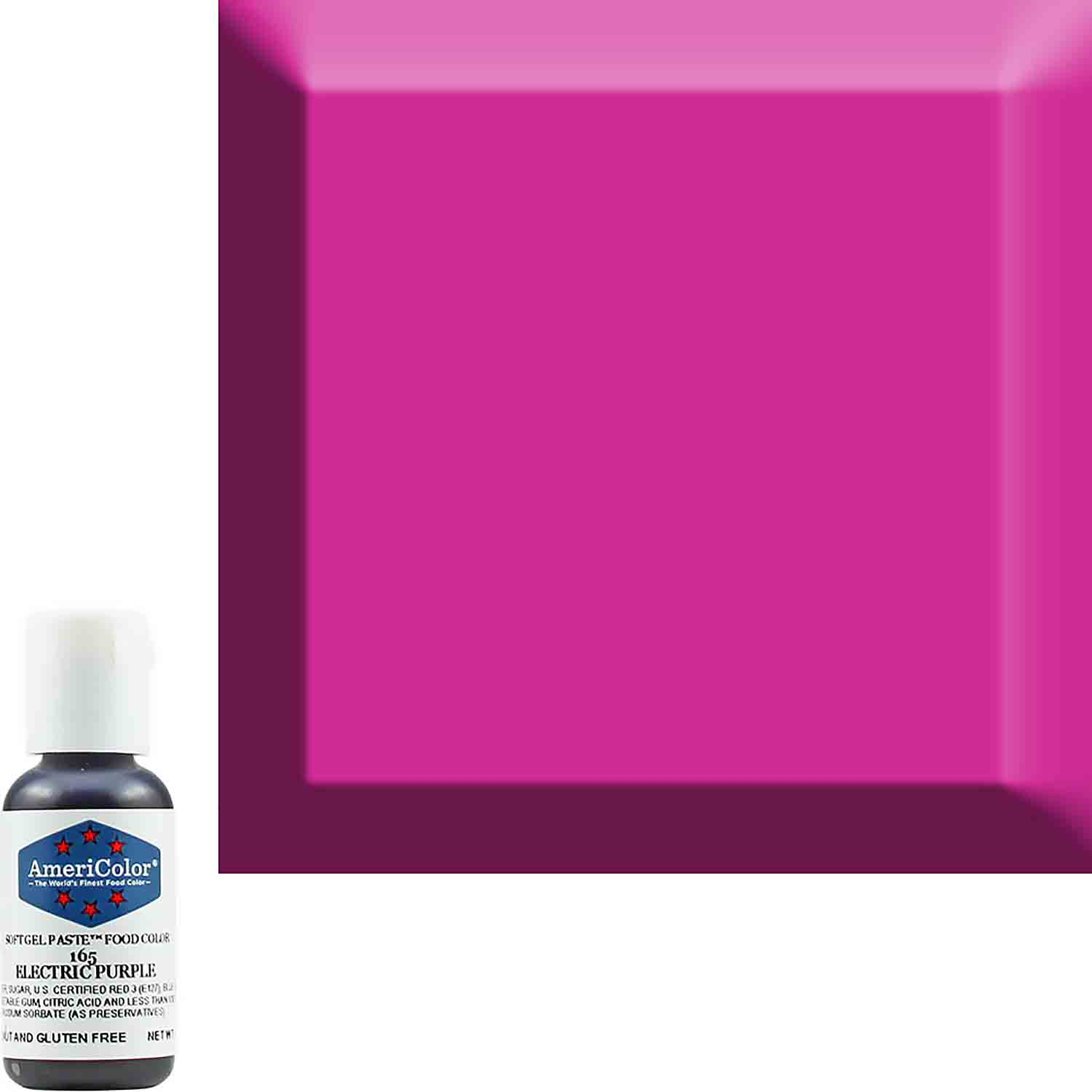 Neon/Electric Purple AmeriColor® Soft Gel Paste™ Food Color