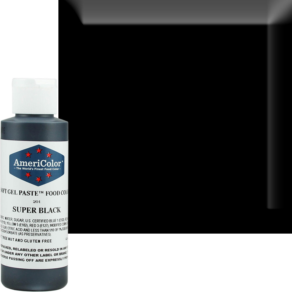 Super Black AmeriColor® Soft Gel Paste™ Food Color