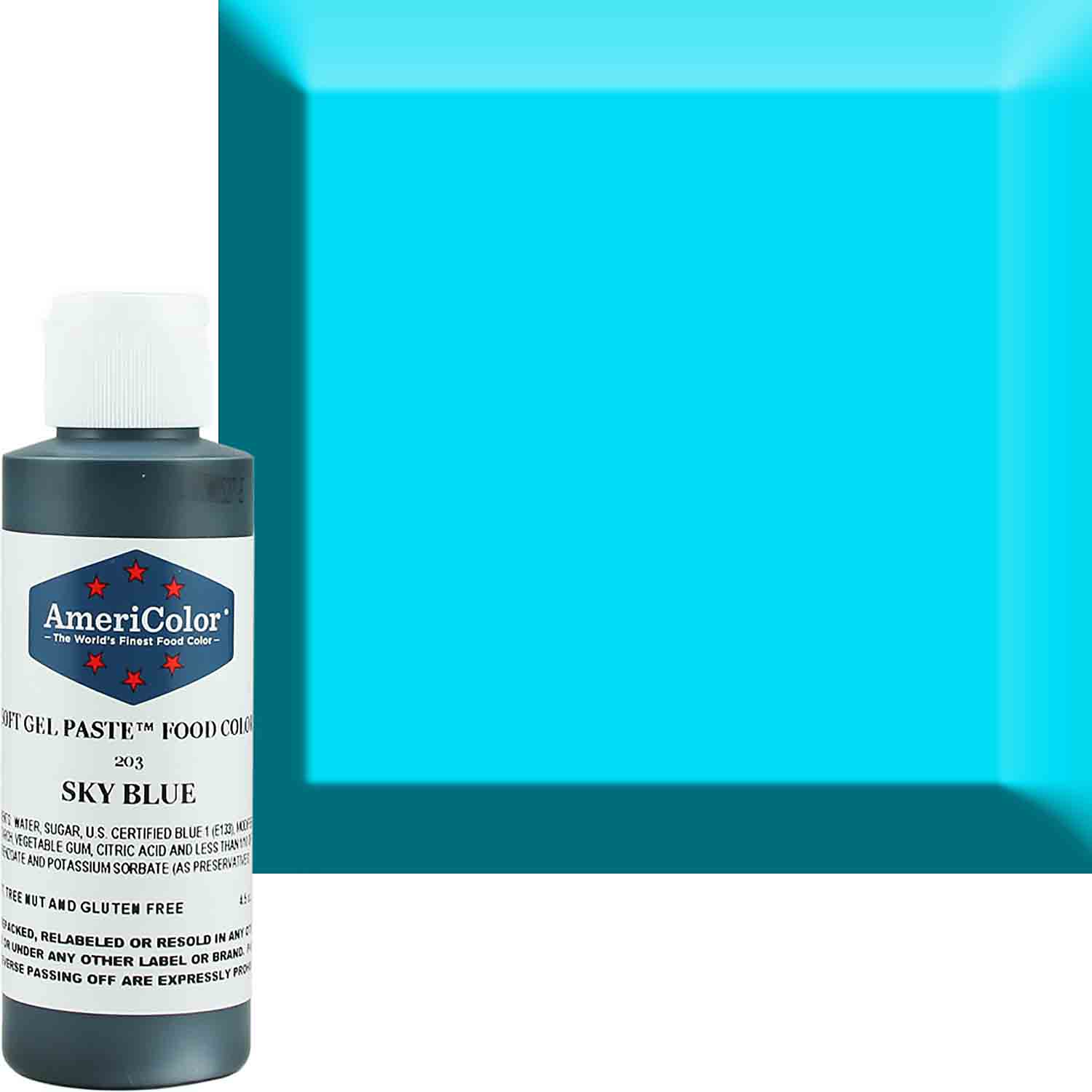 Sky Blue Americolor® Soft Gel Paste Food Color (Old # 41-7803)
