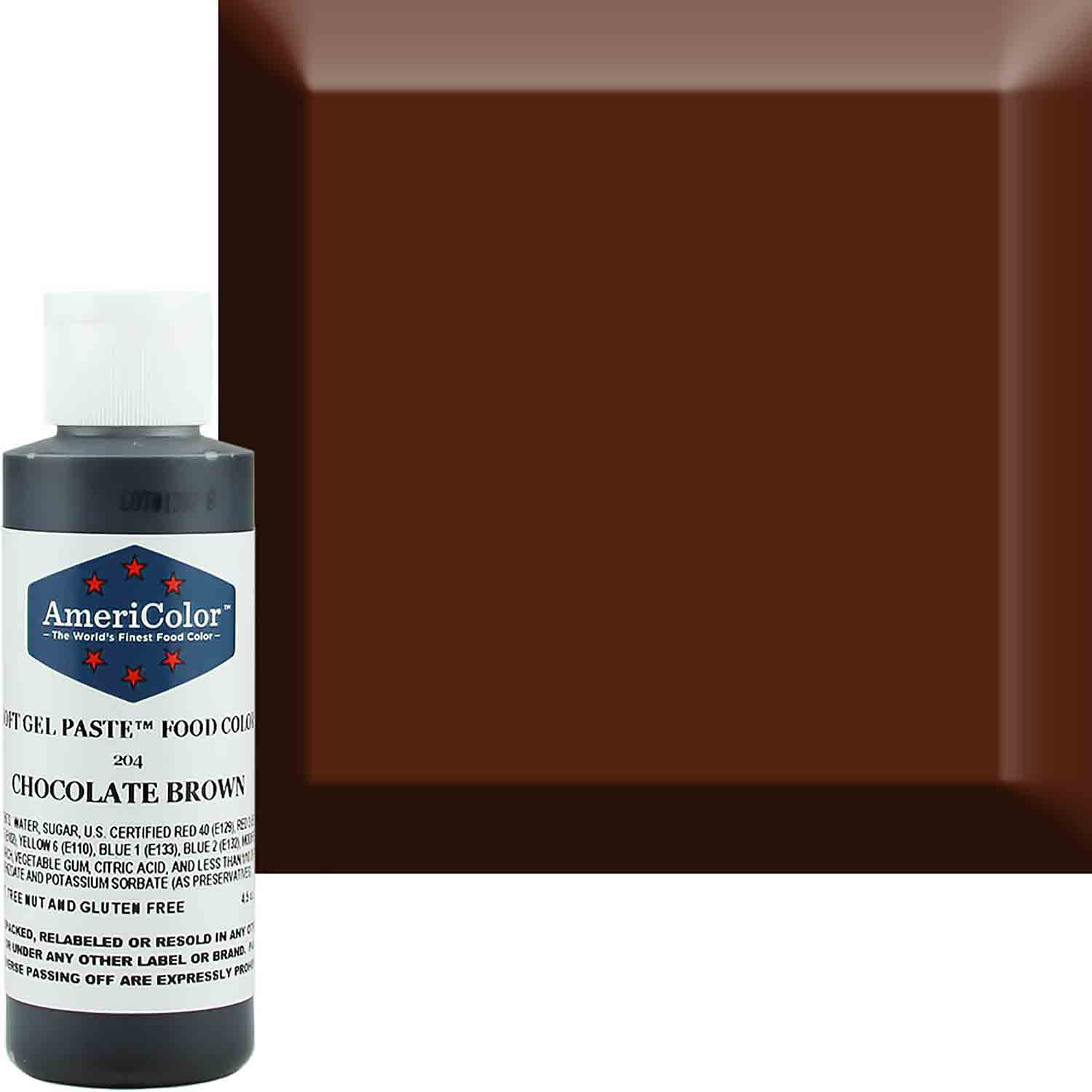 Chocolate Brown Soft Gel Paste™ Food Color