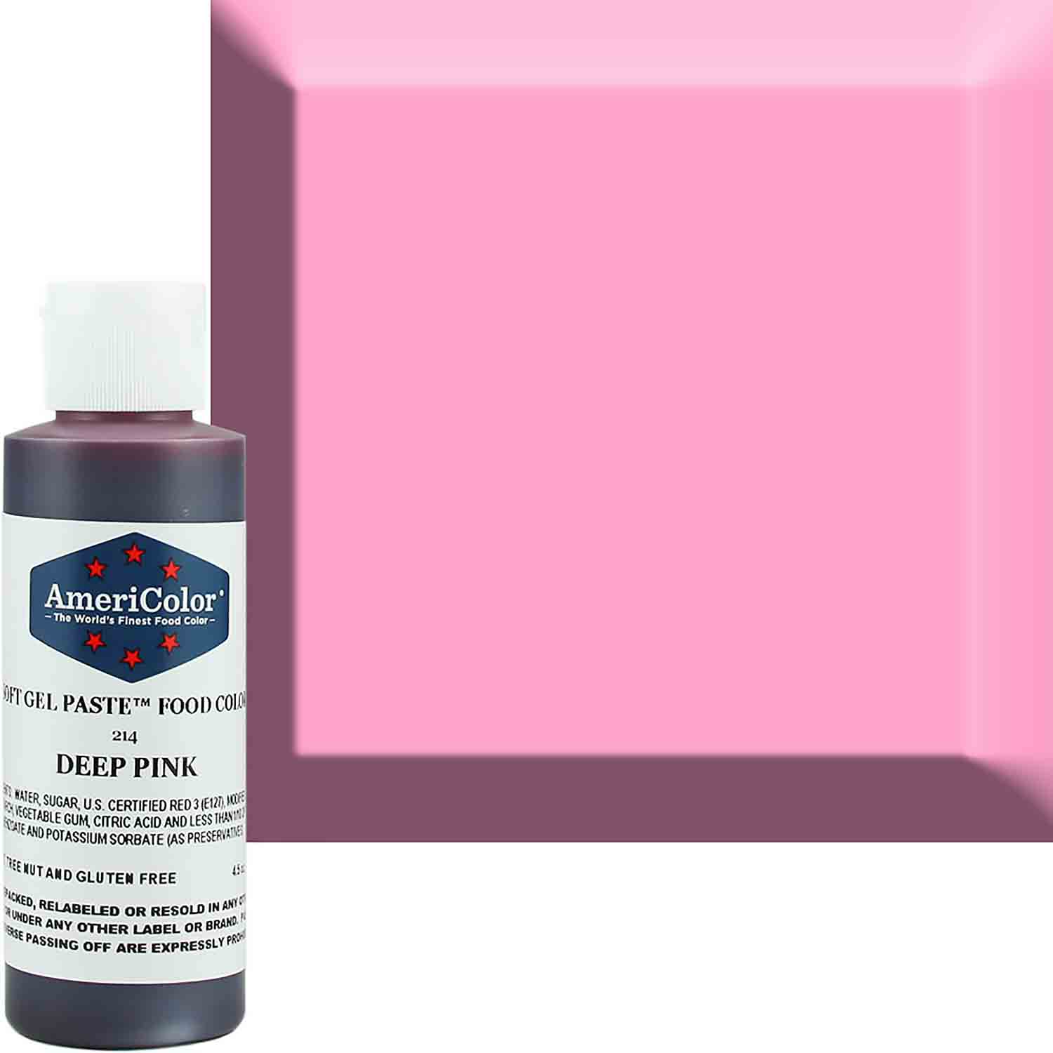 Deep Pink Soft Gel Paste™ Food Color