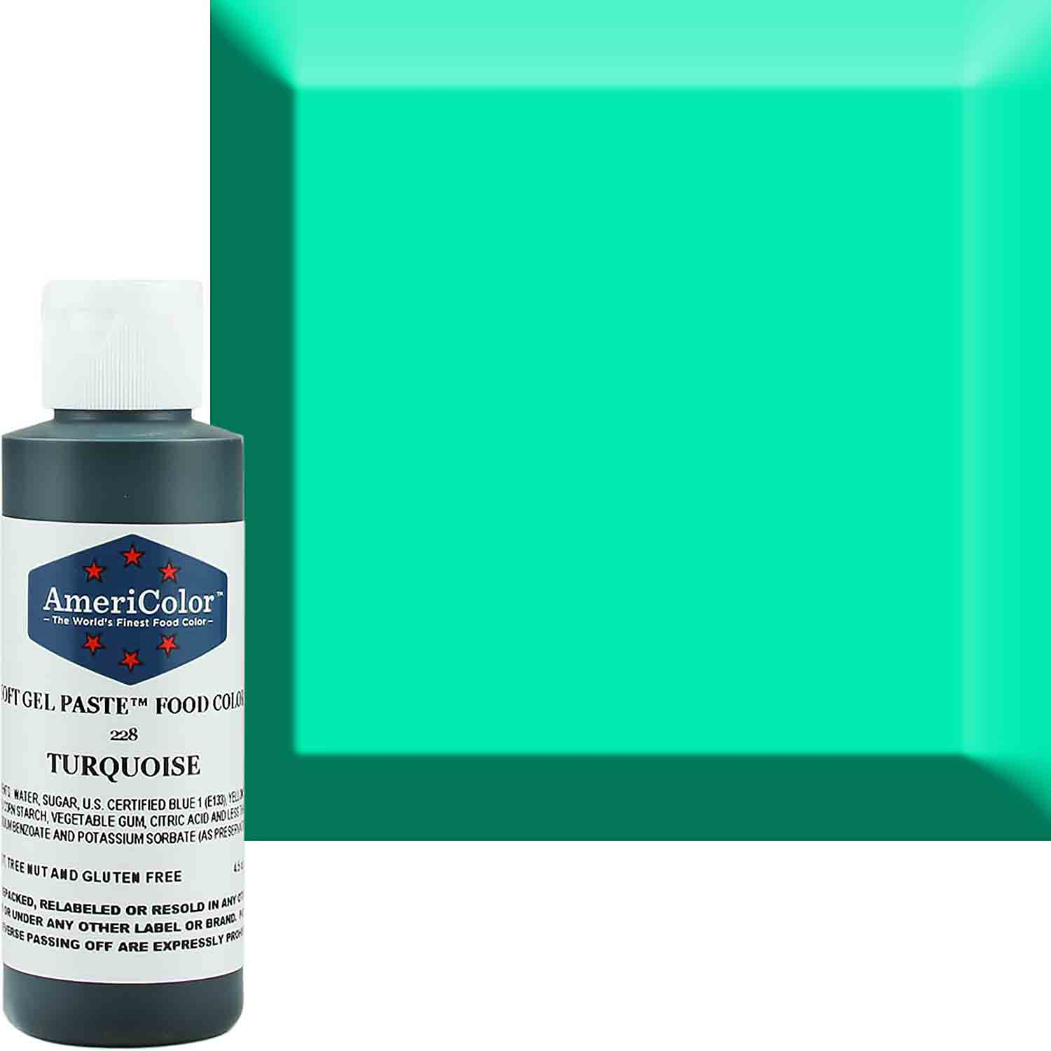 Turquoise Americolor® Soft Gel Paste Food Color - ACR-228 ...