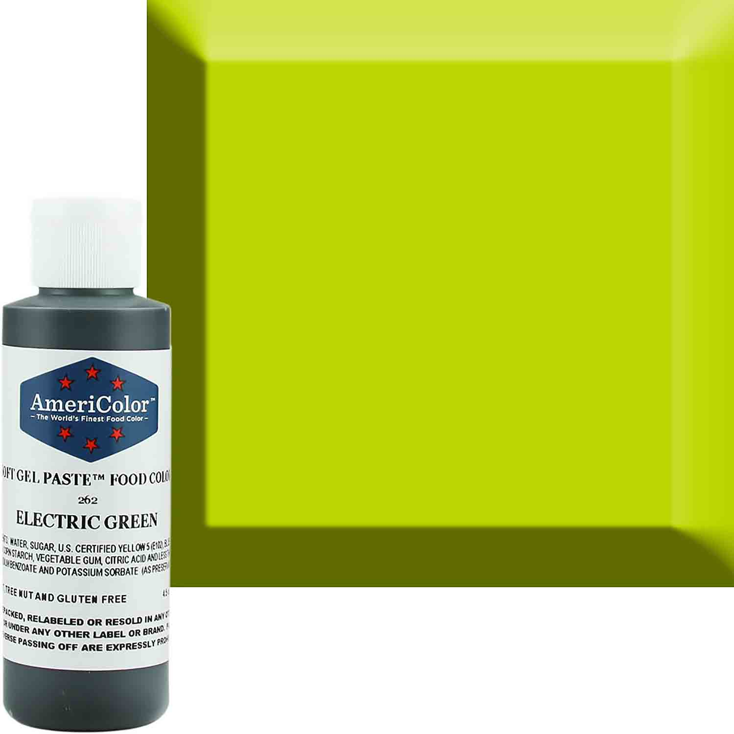 Neon/Electric Green Americolor® Soft Gel Paste Food Color