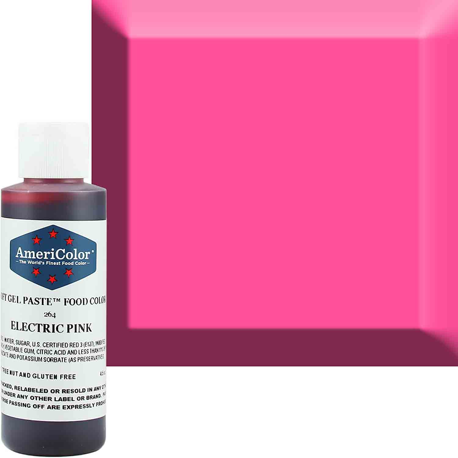 Neon/Electric Pink Americolor® Soft Gel Paste Food Color