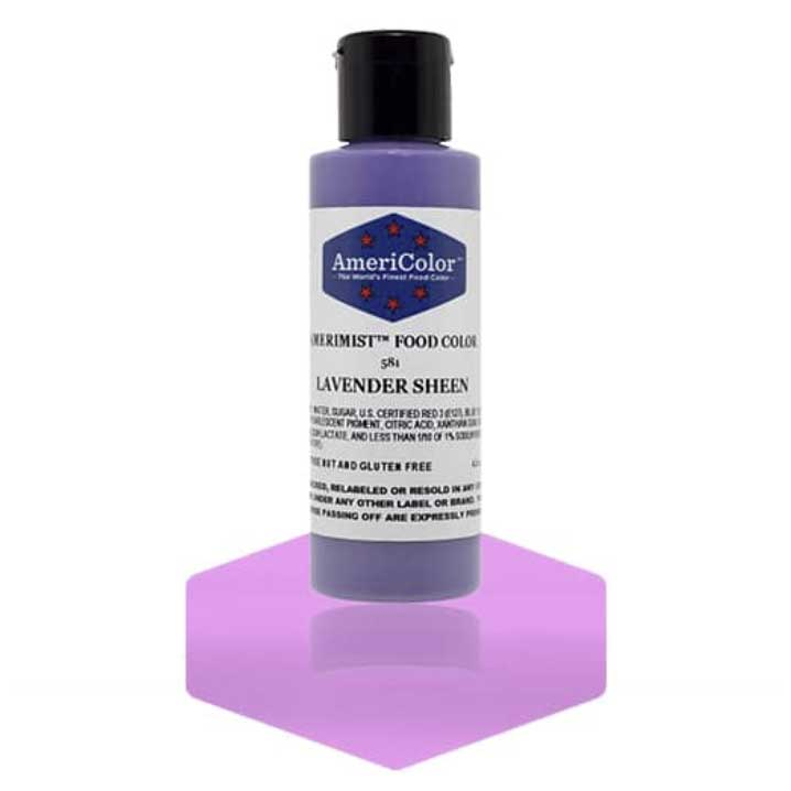 Lavender Sheen Americolor® AmeriMist™ Air Brush Food Color